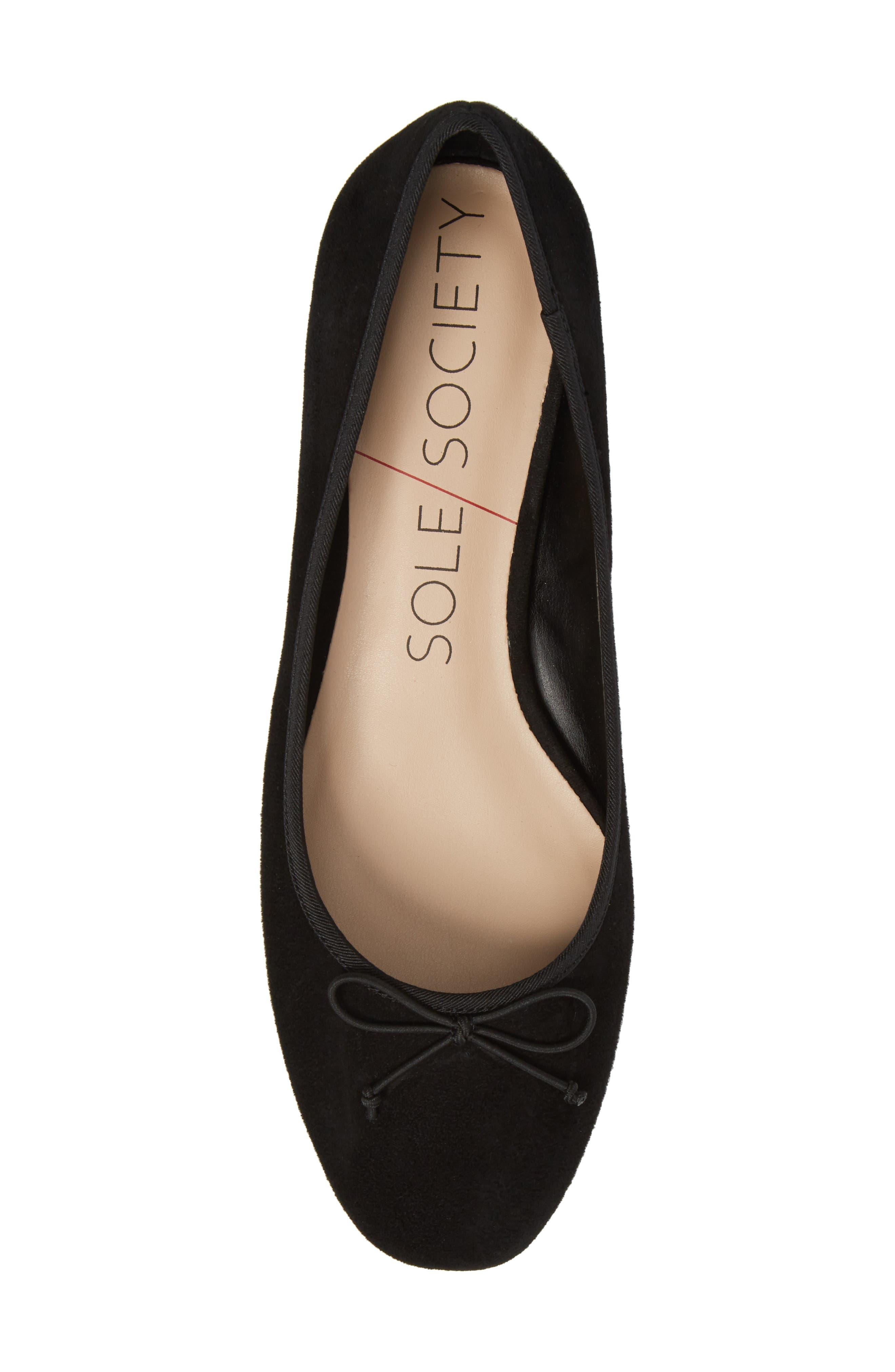 Alternate Image 5  - Sole Society Anastasi Block Heel Flat (Women)