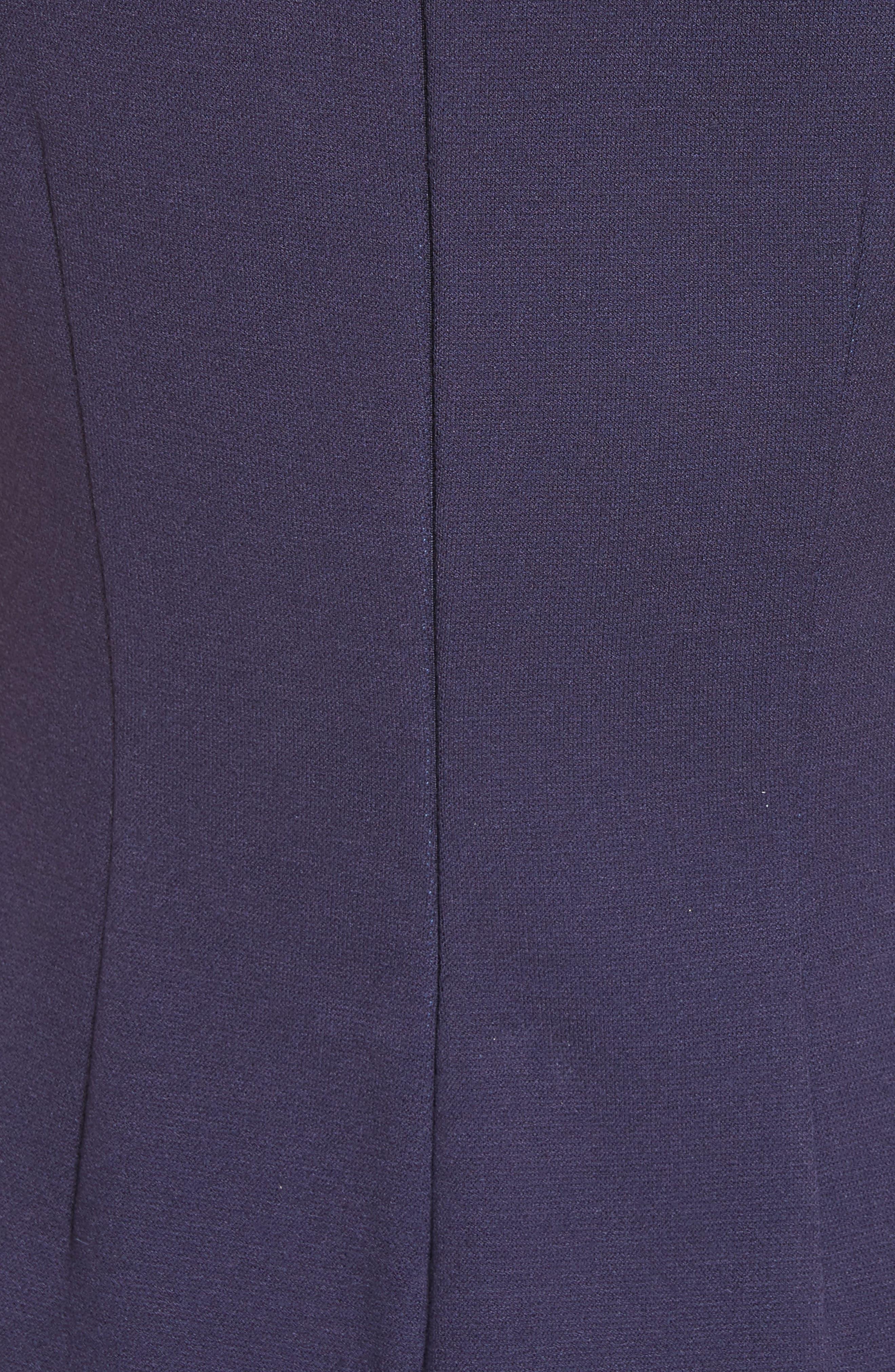 Colorblock Milano Knit Dress,                             Alternate thumbnail 5, color,                             Navy Multi