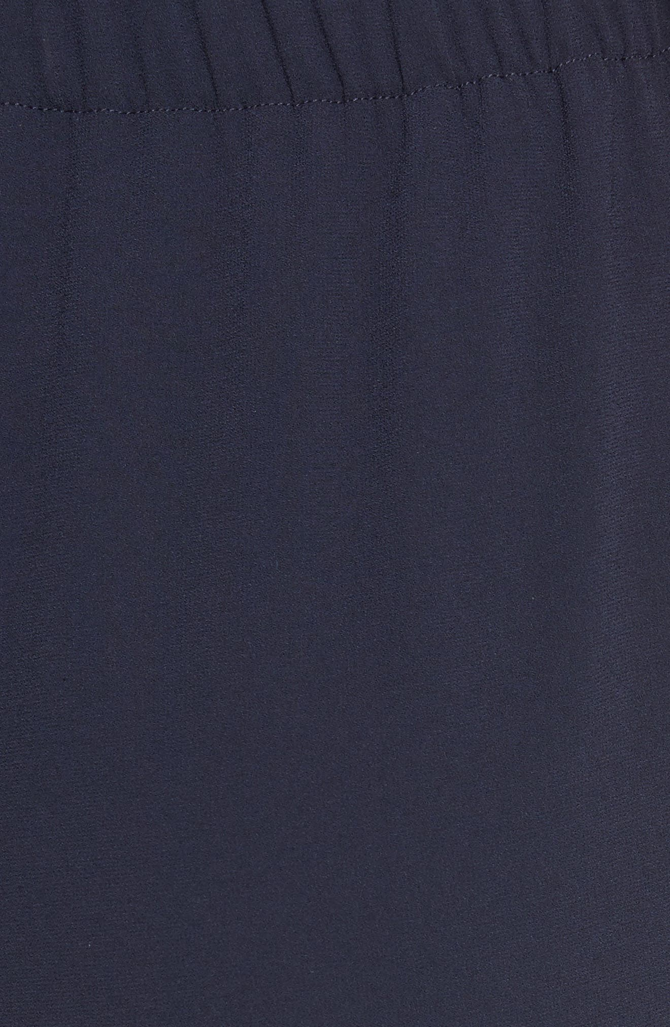 Satin Back Crepe Pants,                             Alternate thumbnail 5, color,                             Navy
