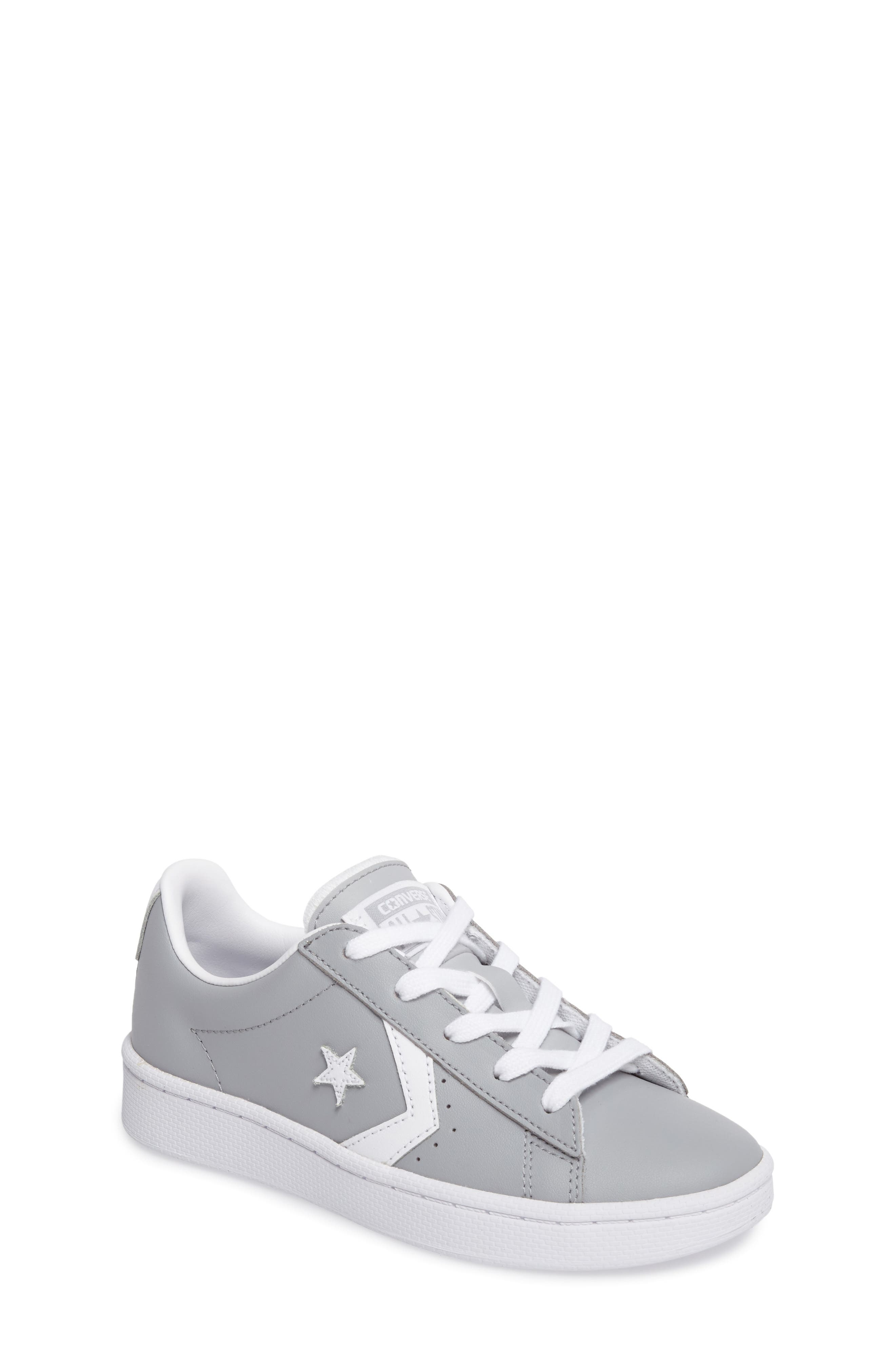 All Star<sup>®</sup> Pro Leather Low Top Sneaker,                         Main,                         color, Wolf Grey