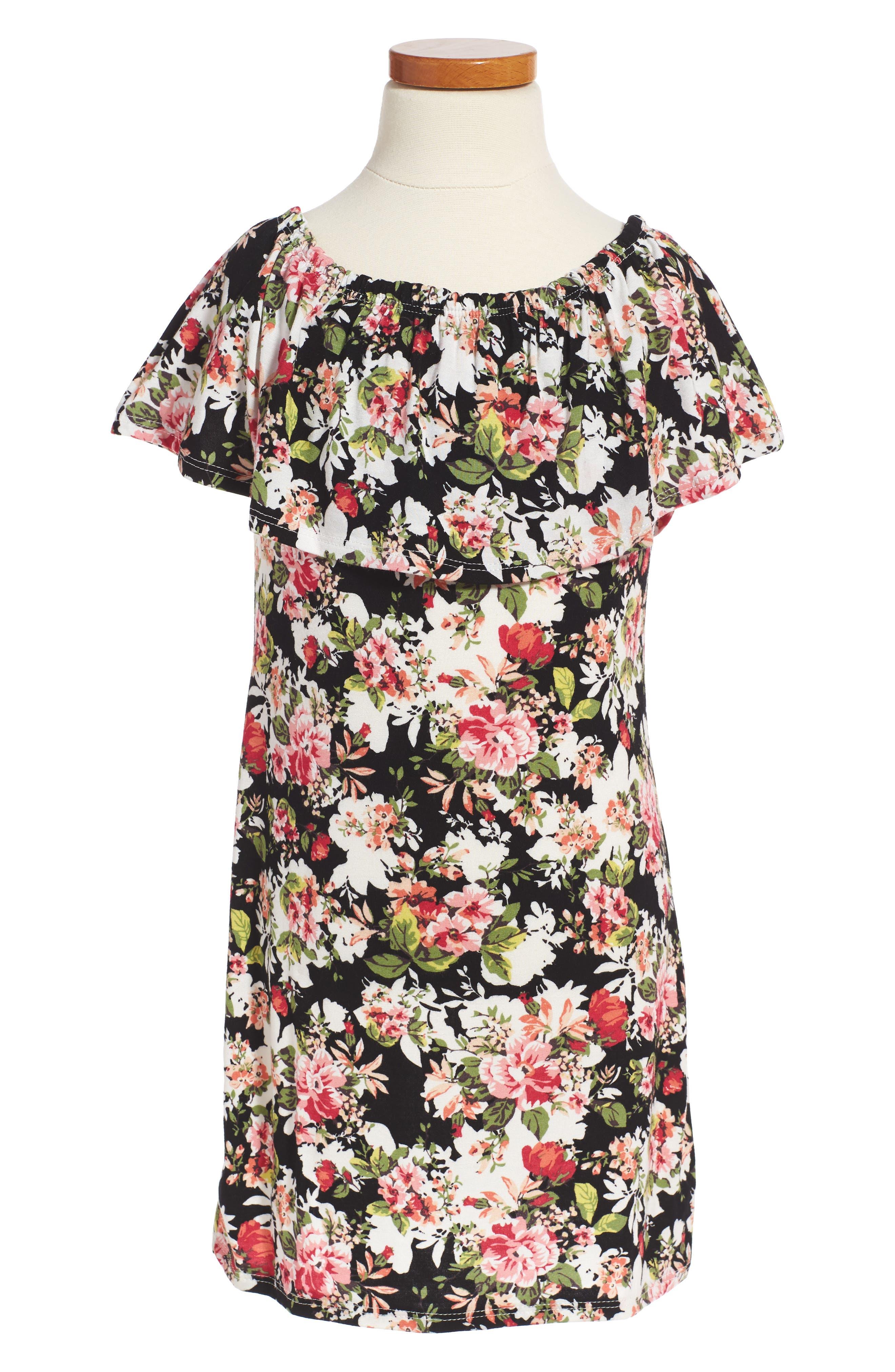Kiddo Floral Off the Shoulder Dress (Big Girls)
