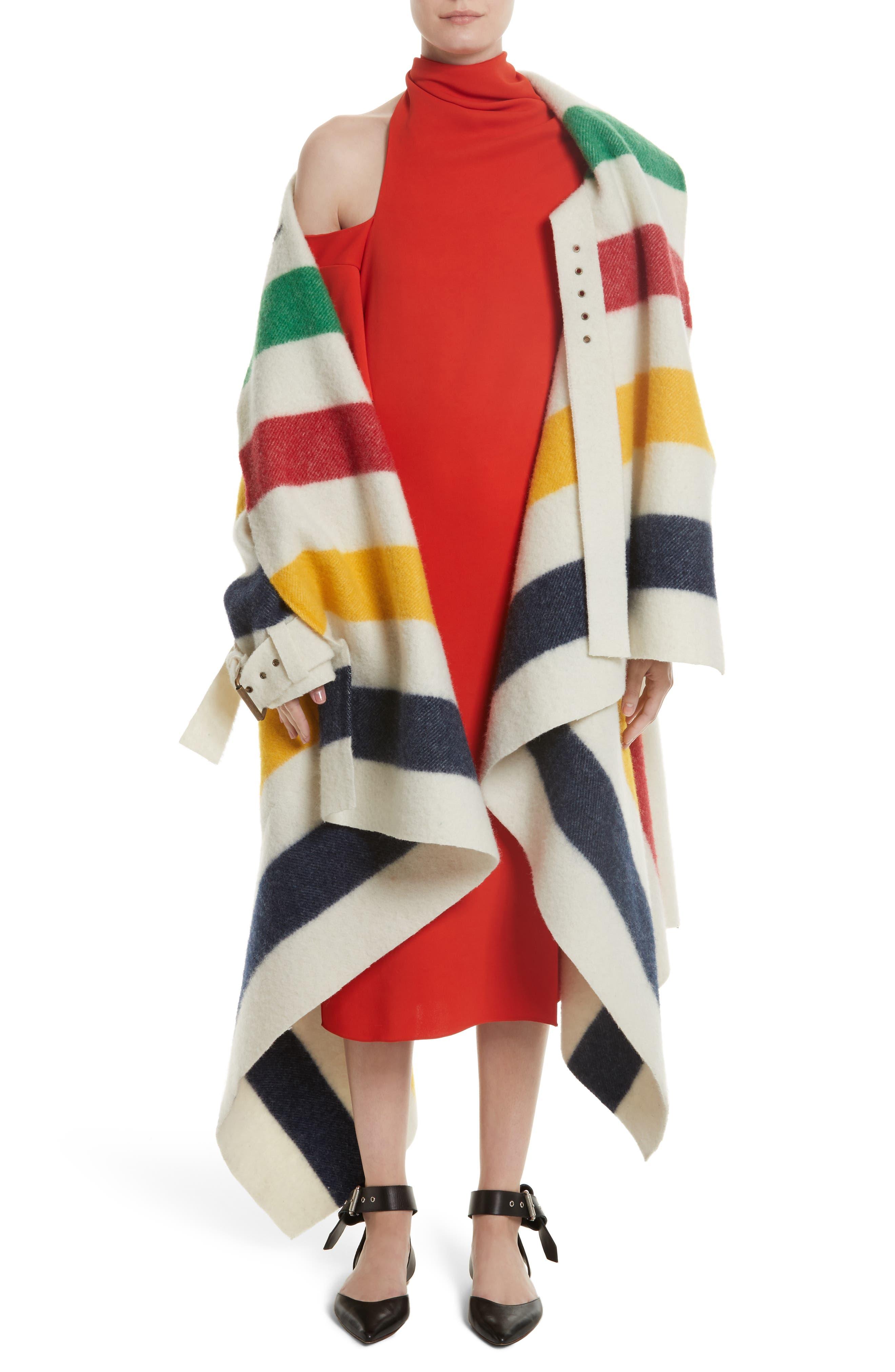 Bow Back Asymmetrical Dress,                             Alternate thumbnail 8, color,                             Red