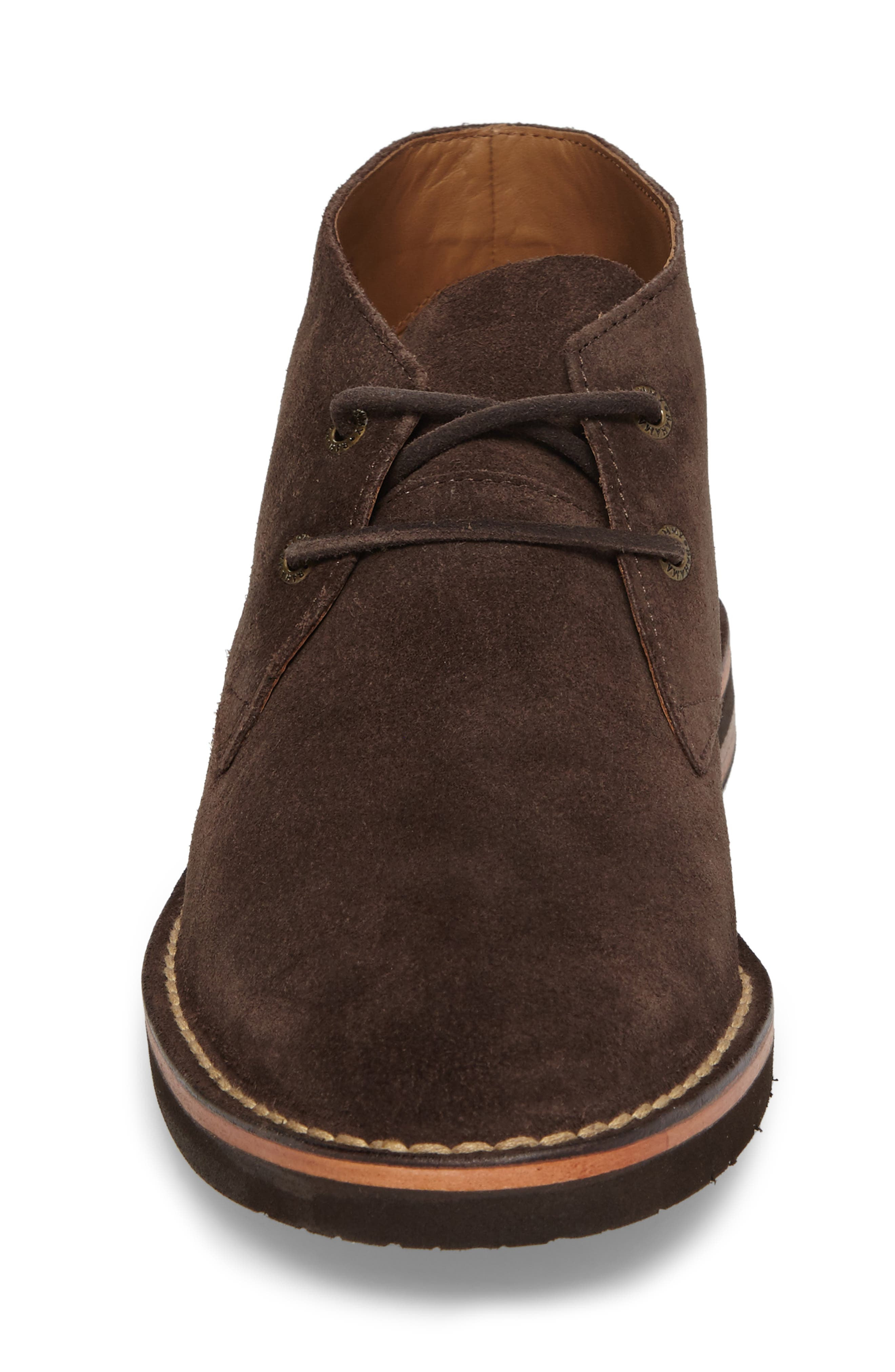 Nassau Chukka Boot,                             Alternate thumbnail 4, color,                             Dark Brown Suede