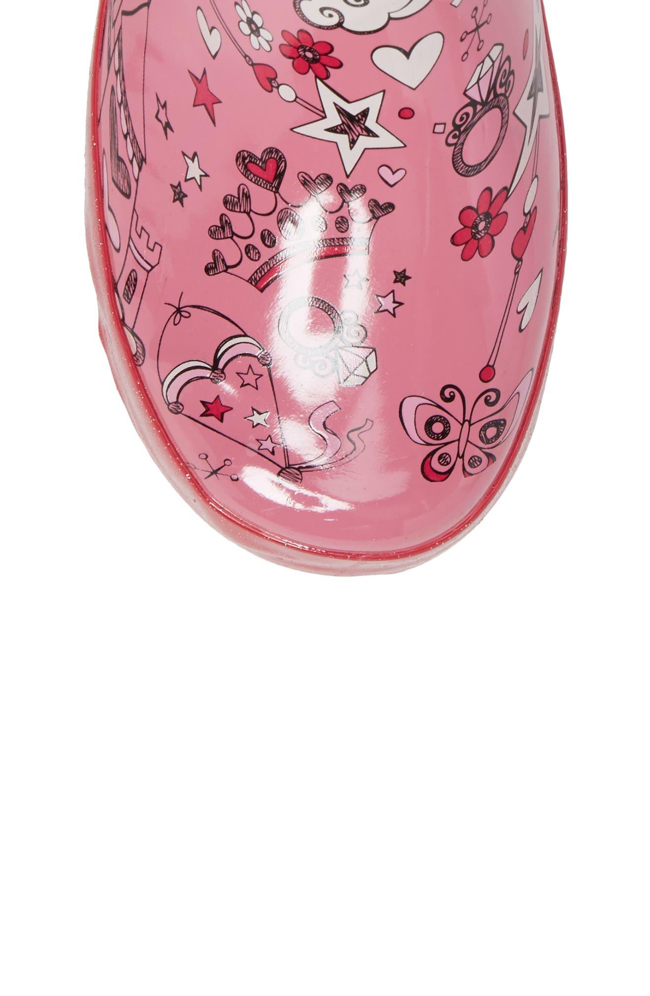 Fairy Tale Rain Boot,                             Alternate thumbnail 5, color,                             Pink