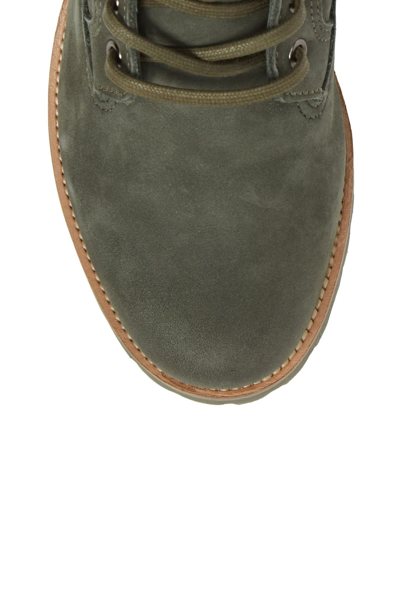 OL23 Lace-Up Boot,                             Alternate thumbnail 5, color,                             Dark Green Nubuck