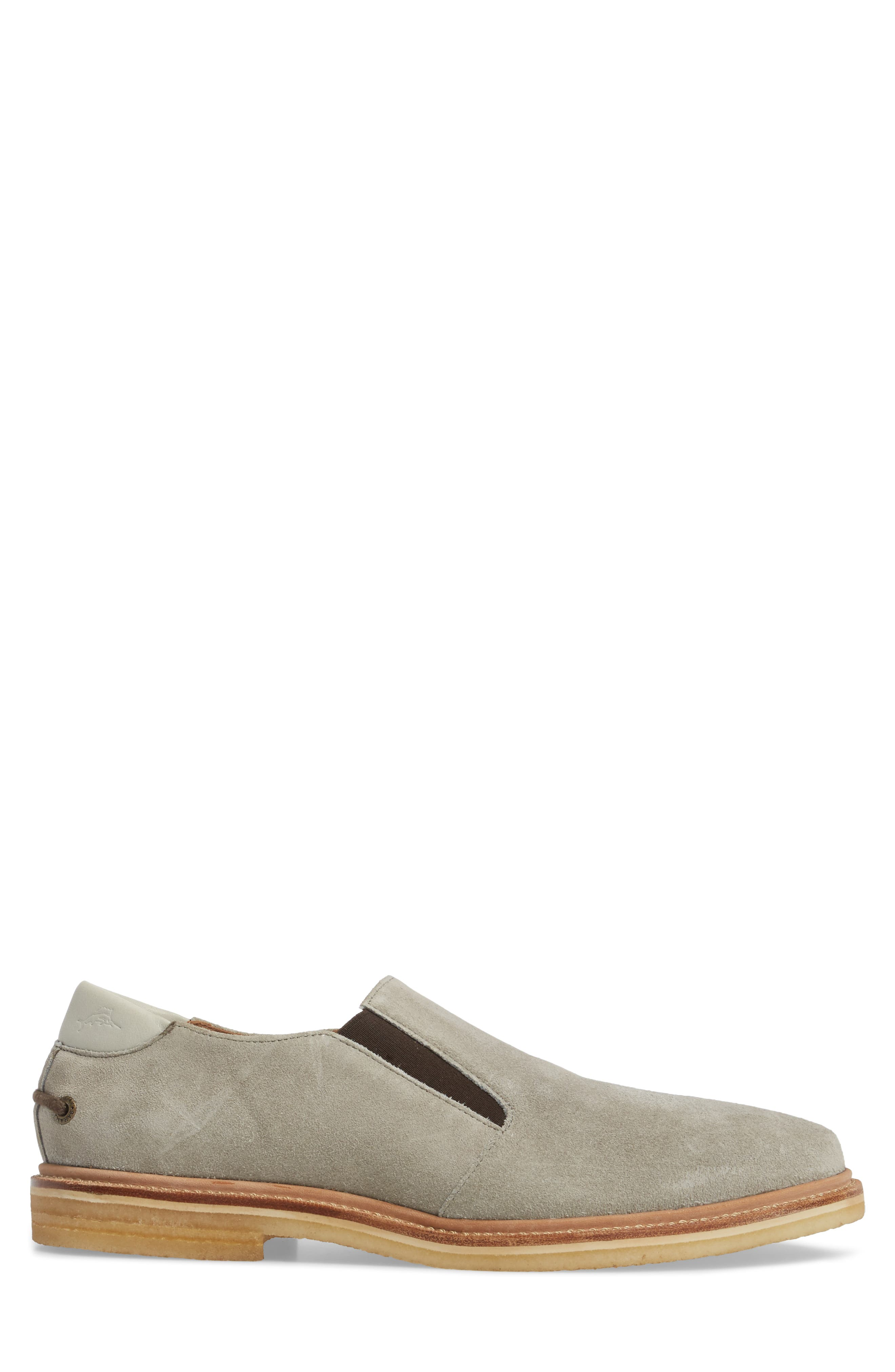 Linen Slip-On,                             Alternate thumbnail 3, color,                             Grey Suede