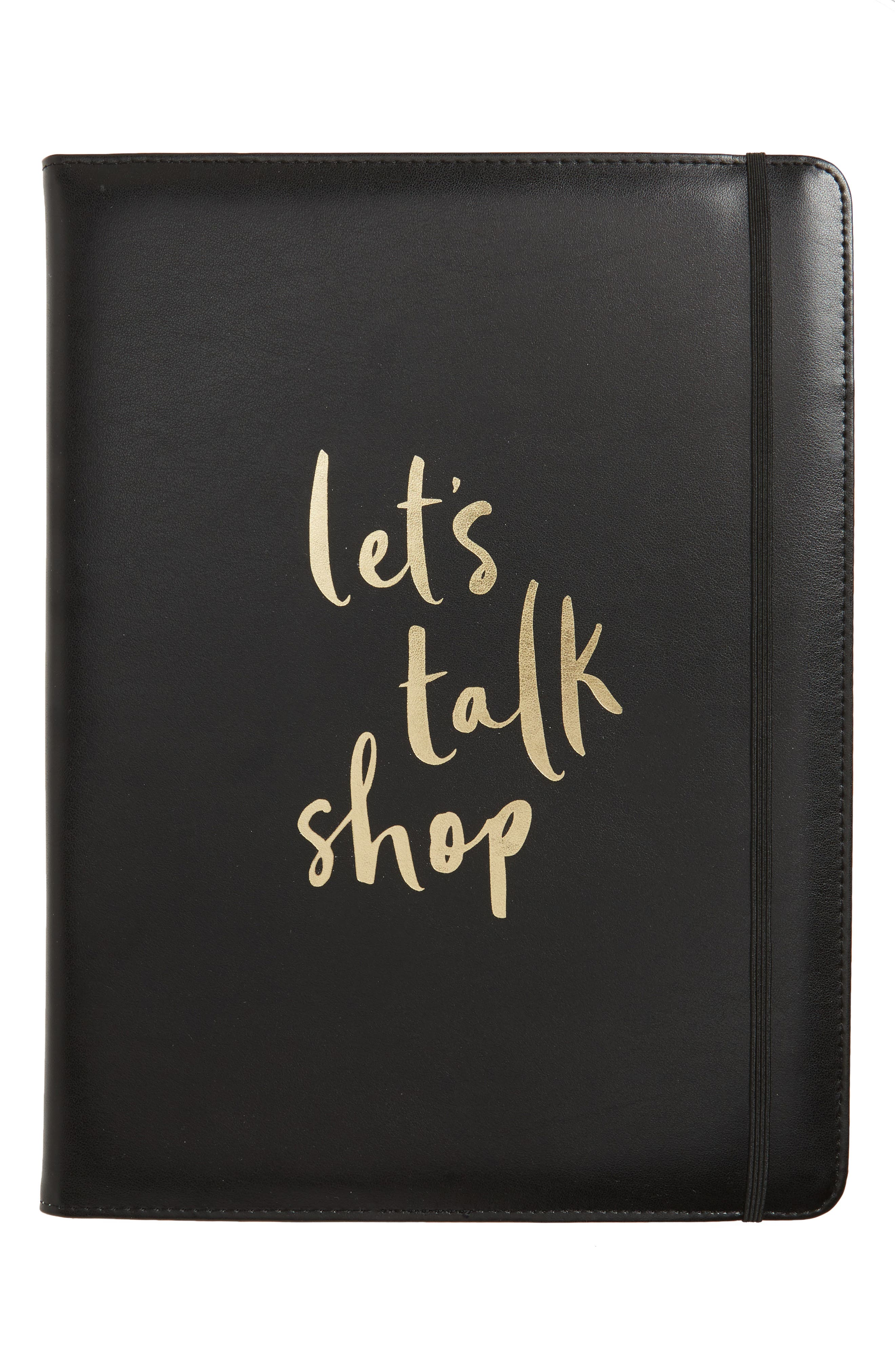 kate spade new york let's talk shop notepad folio