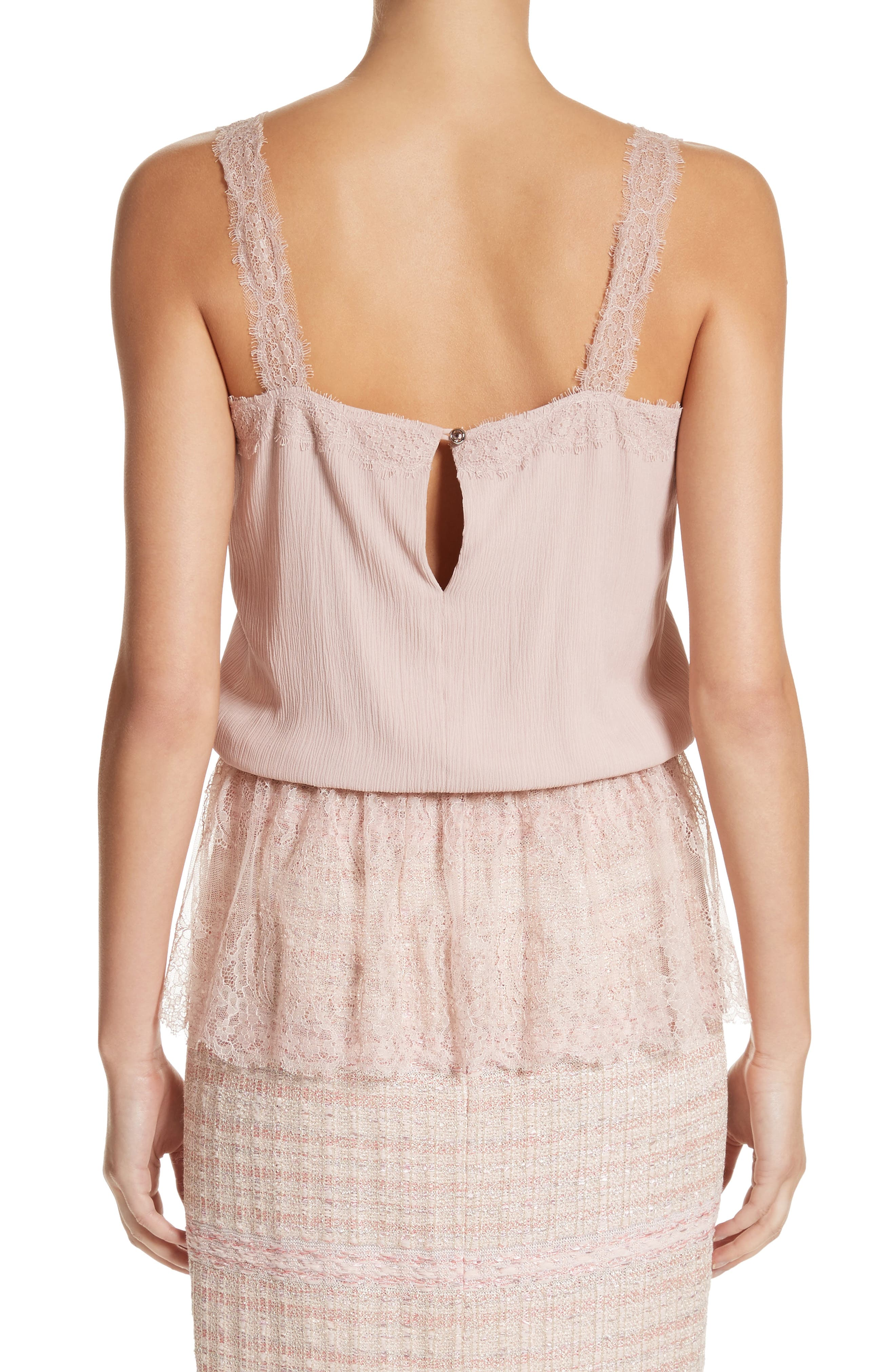 Alternate Image 2  - St. John Collection Crinkle Silk Georgette Camisole