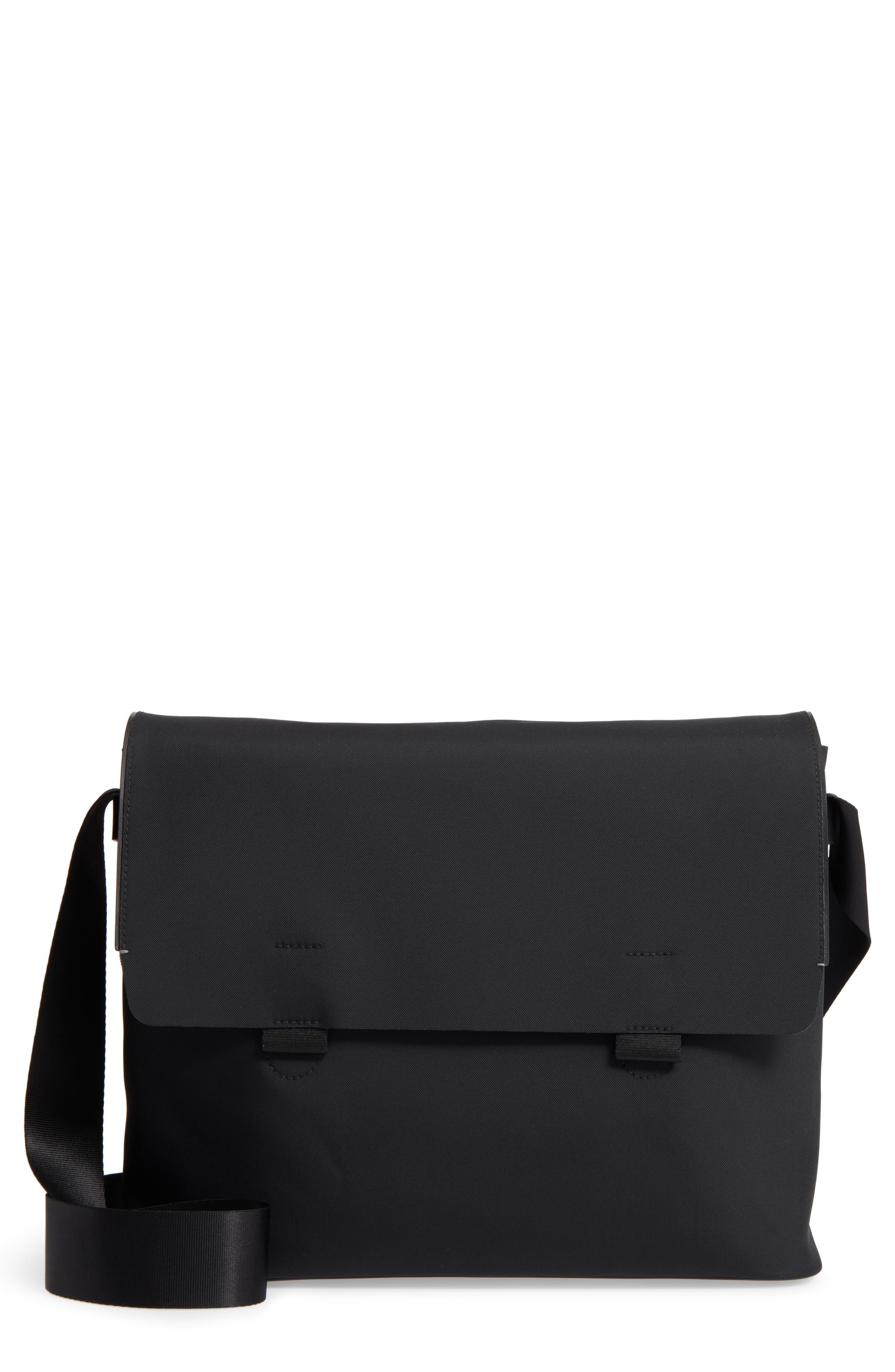 TROUBADOUR Nylon & Leather Messenger Bag
