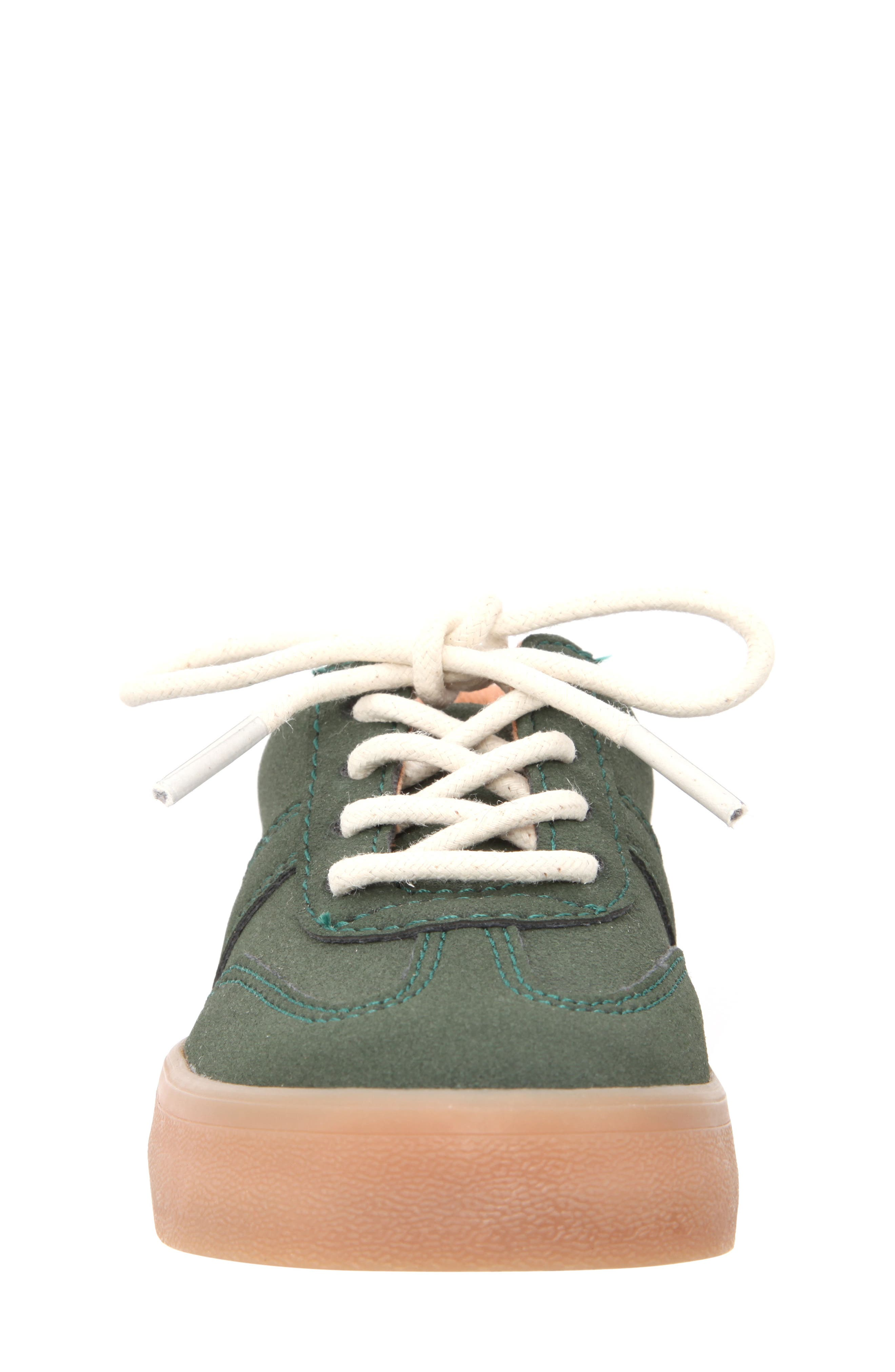 Neal Low Top Sneaker,                             Alternate thumbnail 4, color,                             Olive Suede