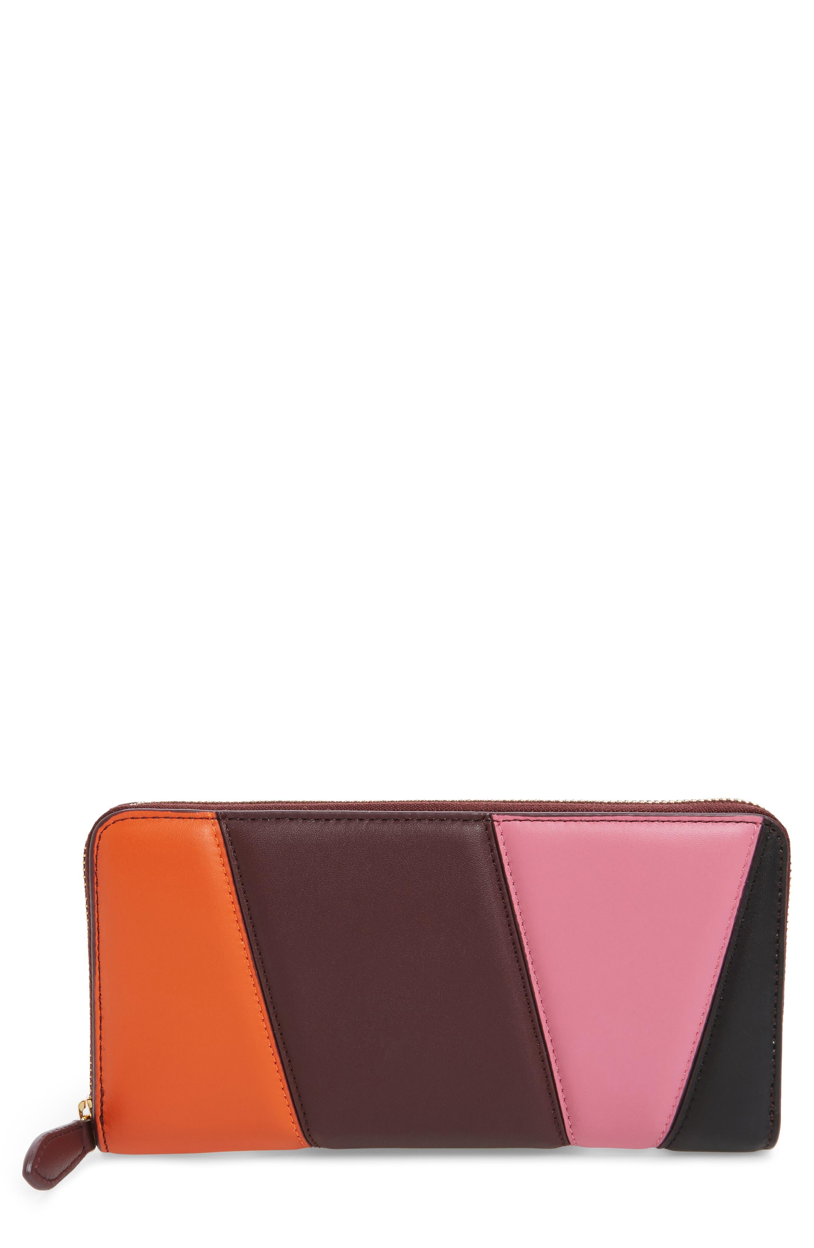 Main Image - Diane von Furstenberg Colorblock Leather Continental Wallet