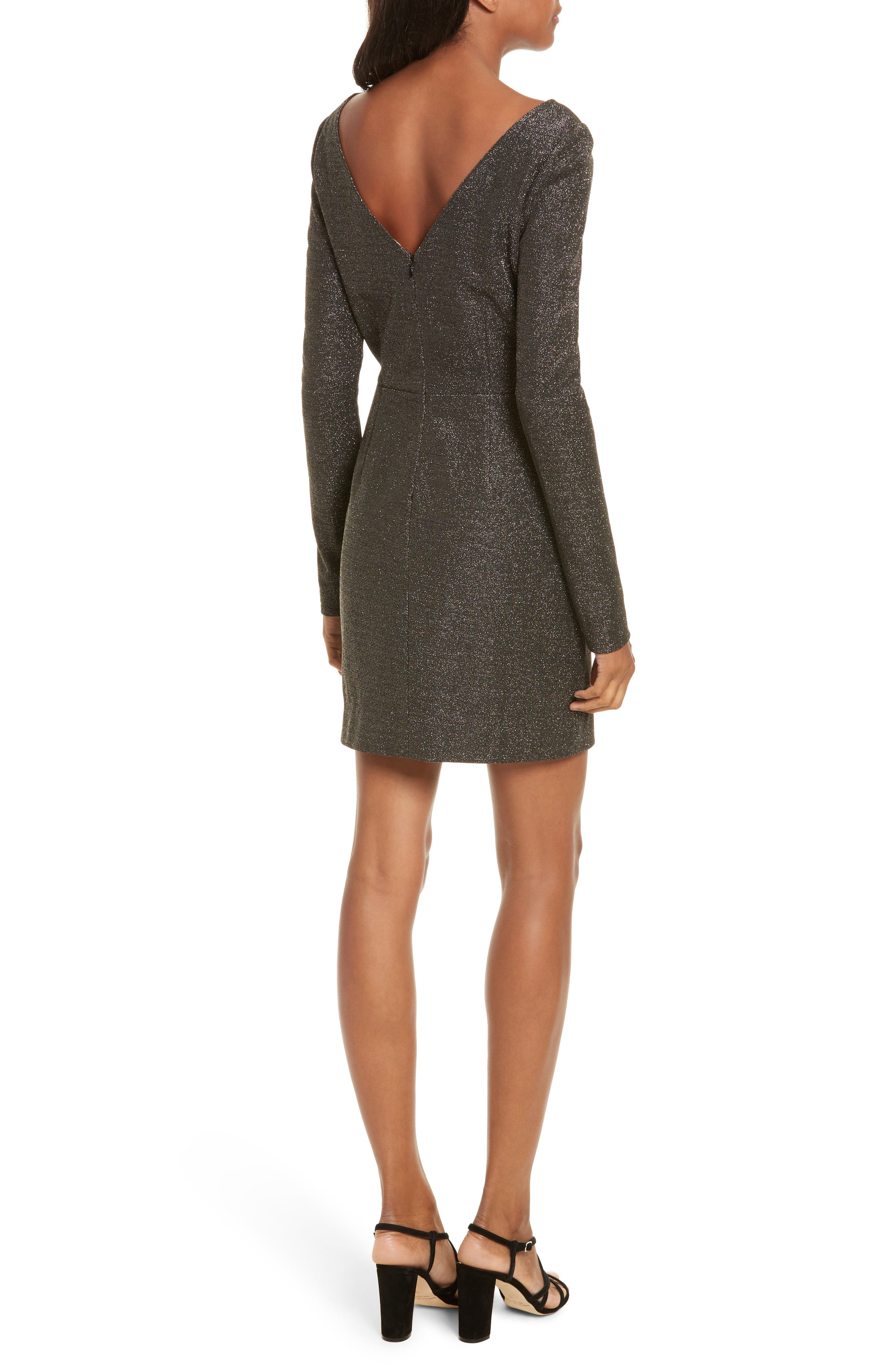 Diane von Furstenberg Sparkle Sheath Minidress,                             Alternate thumbnail 2, color,                             Black