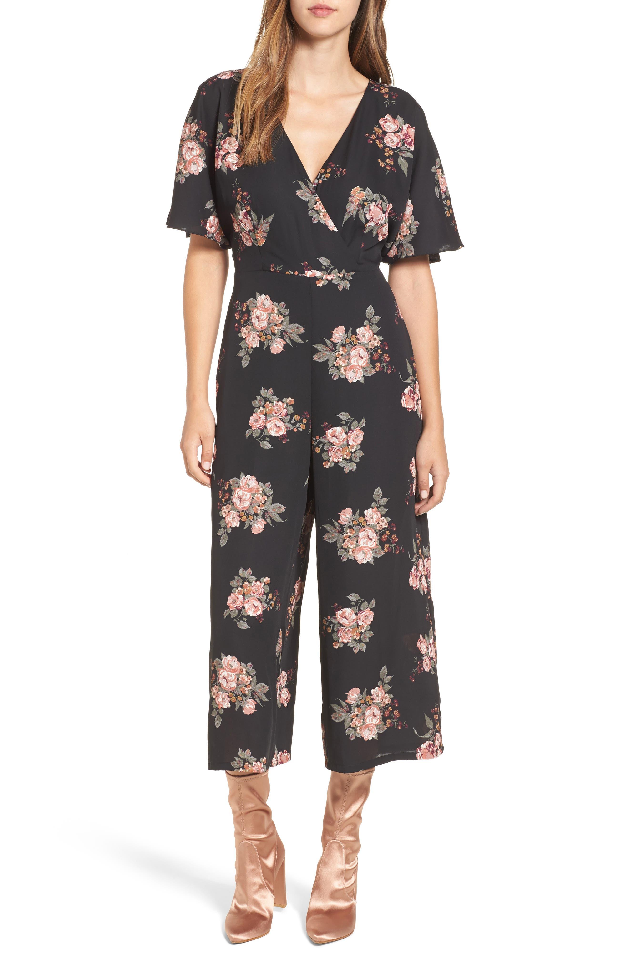 Main Image - June & Hudson Short Sleeve Jumpsuit