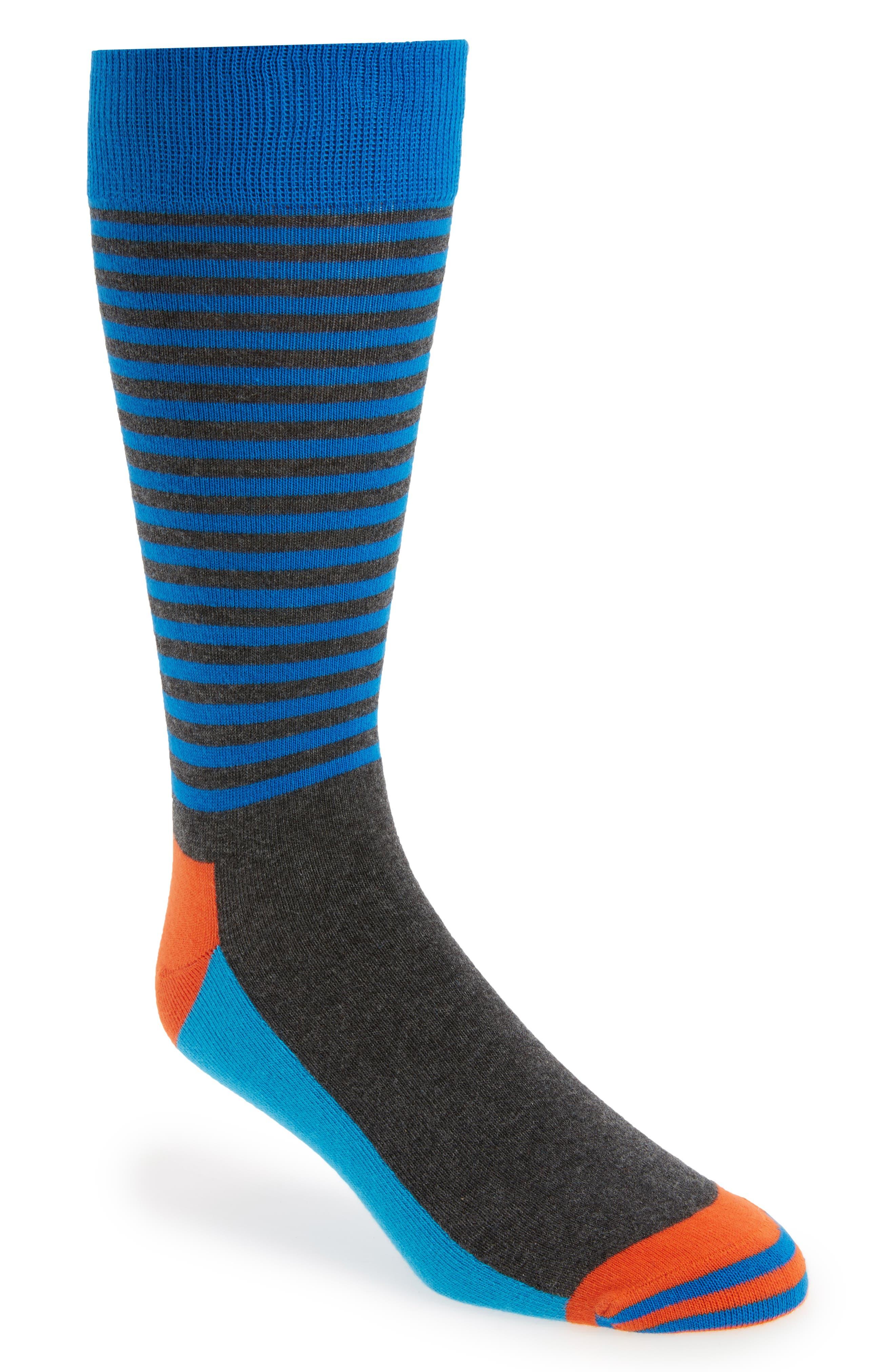 Alternate Image 1 Selected - Happy Socks Half Stripe Socks (3 for $30)