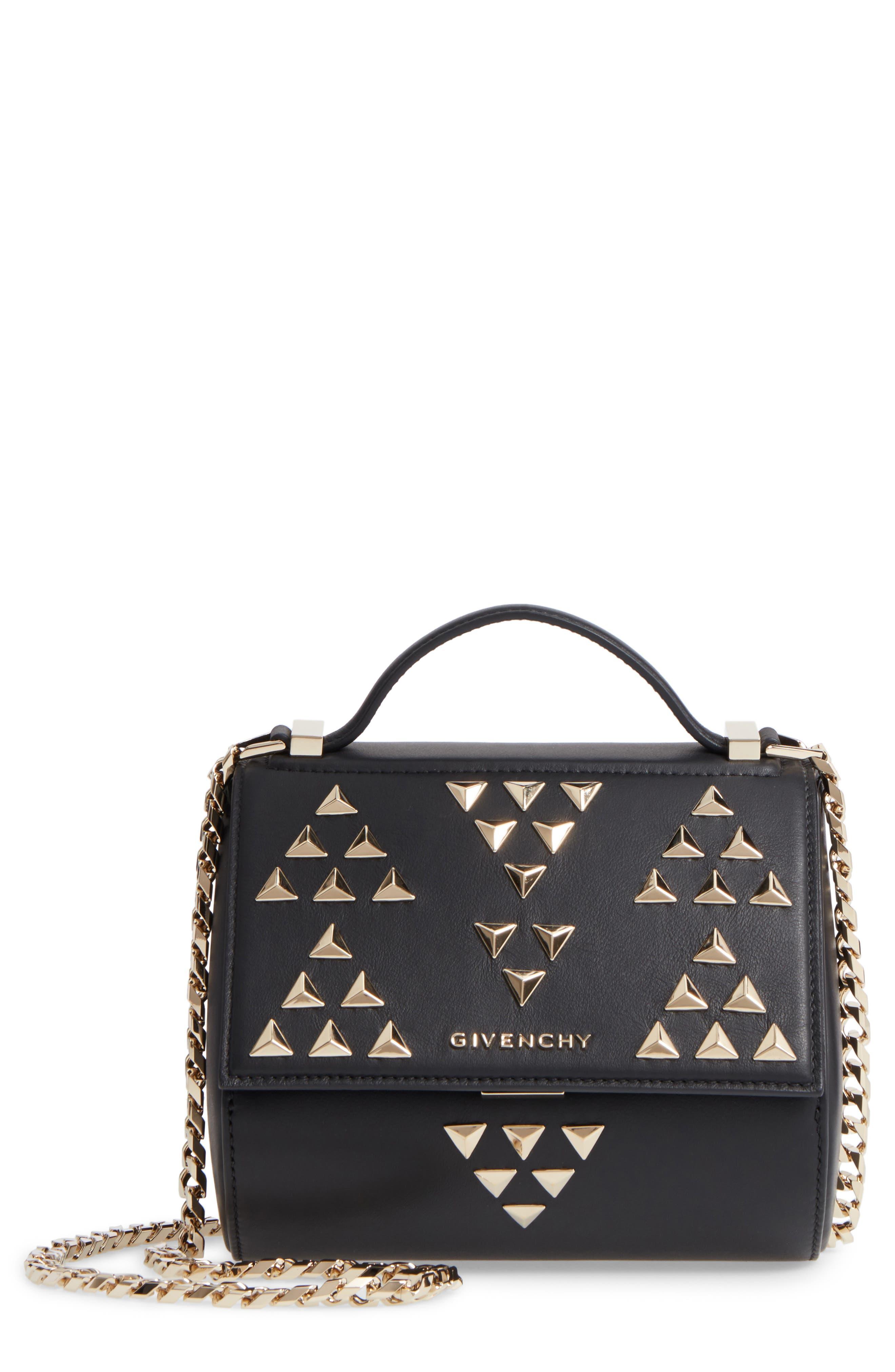 Givenchy Pandora Box Calfskin Leather Top Handle Satchel