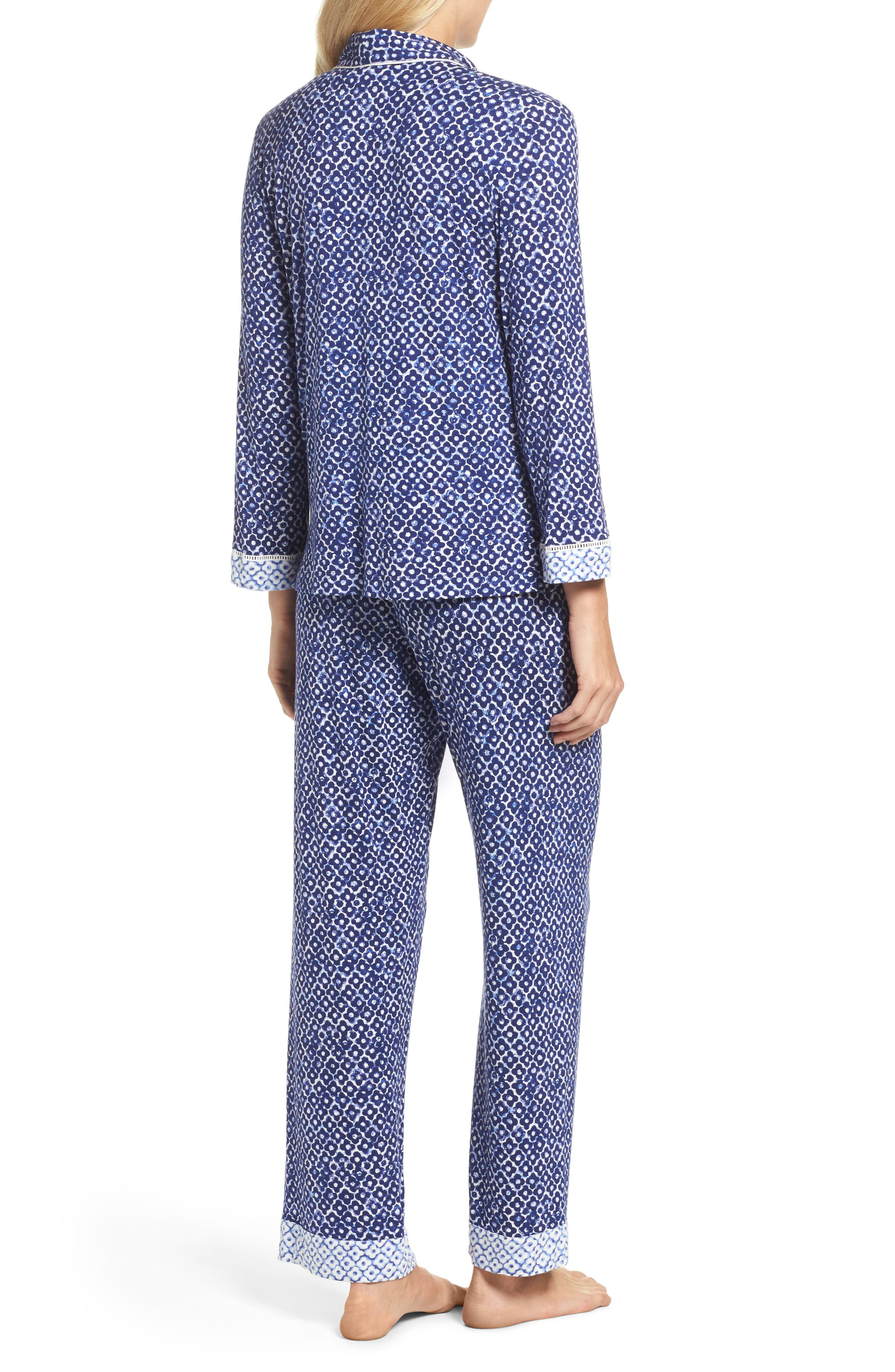 Sleepwear Pajamas,                             Alternate thumbnail 2, color,                             Navy Clover Geo Print