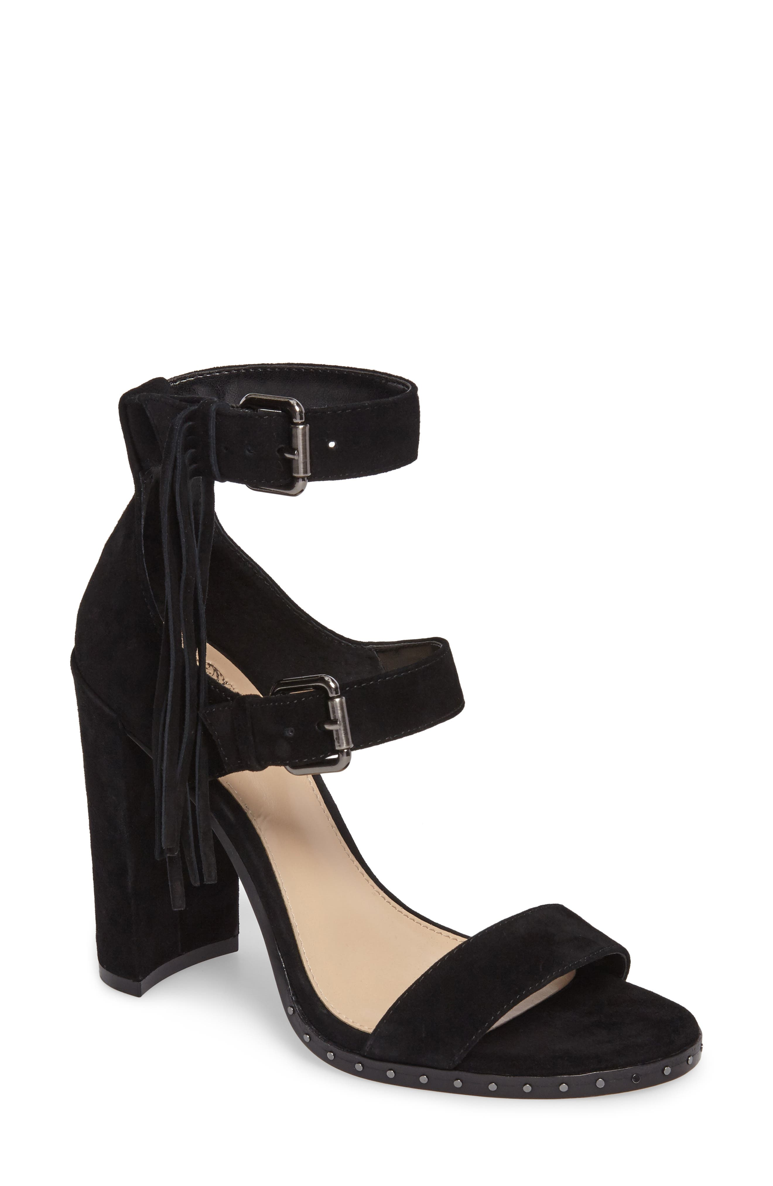 Jesina Sandal,                         Main,                         color, Black Suede