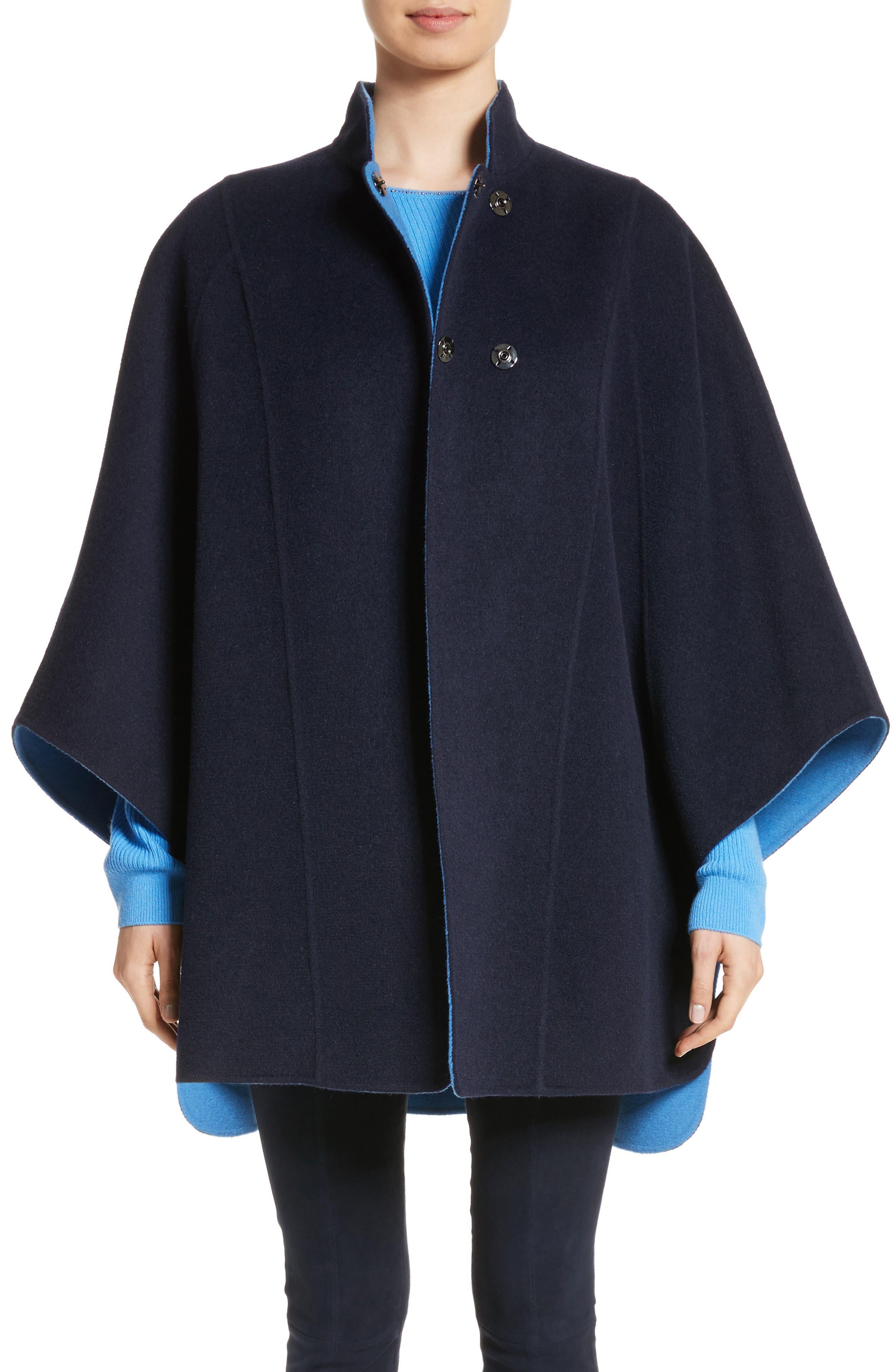 Double Face Reversible Coat,                         Main,                         color, Navy Multi
