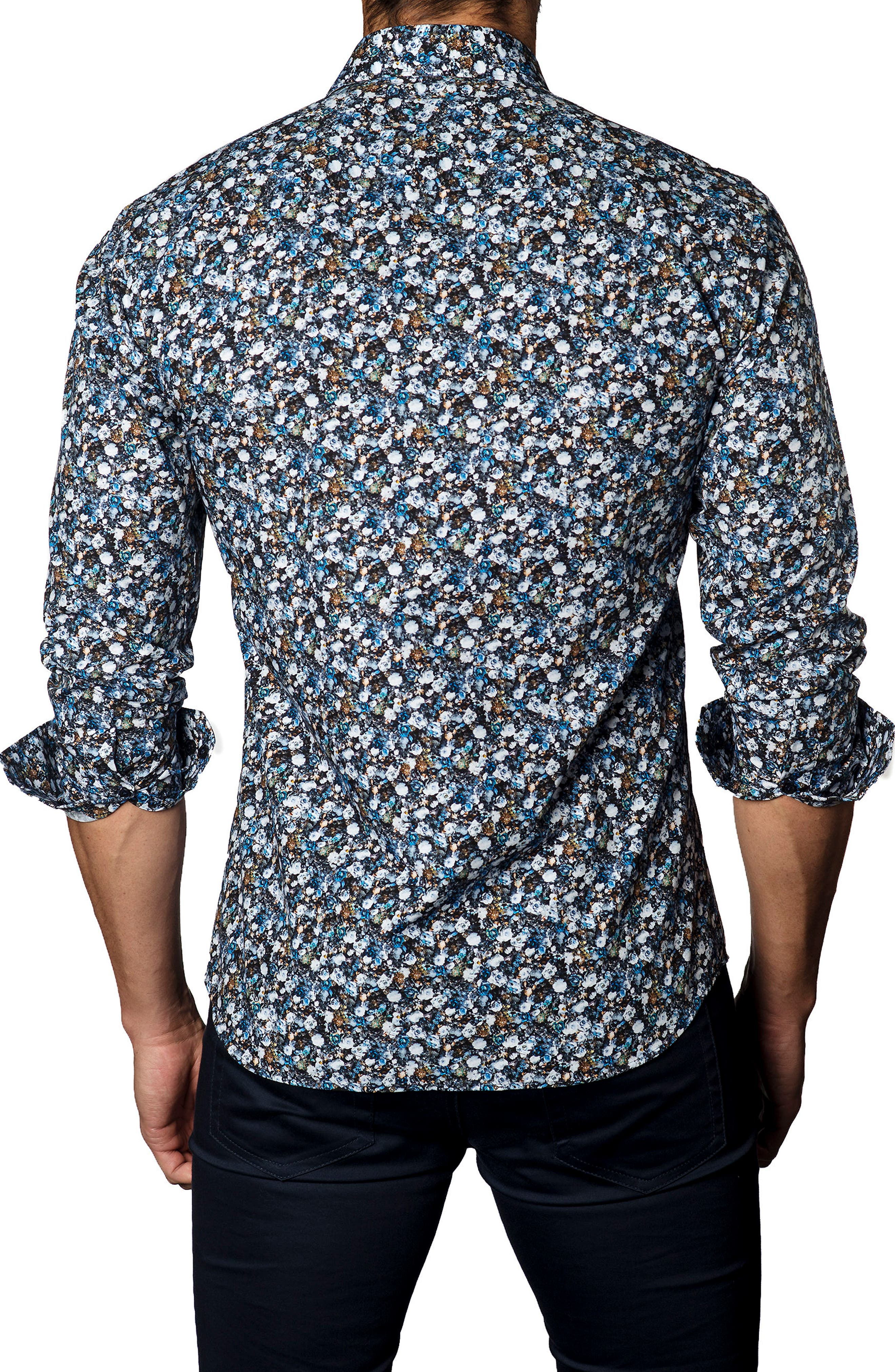 Alternate Image 2  - Jared Lang Trim Fit Floral Sport Shirt