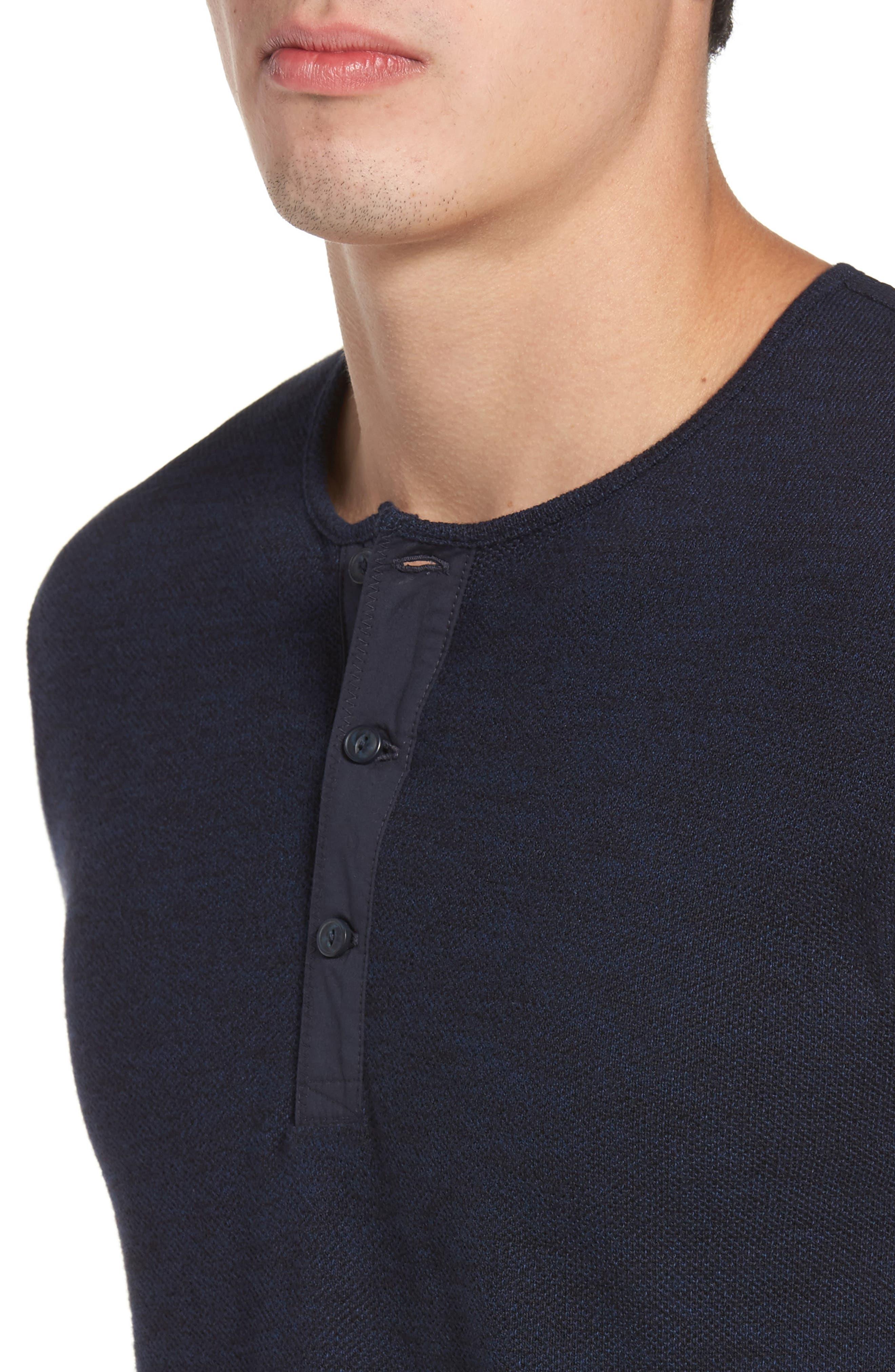Alternate Image 4  - Nordstrom Men's Shop Hacci Knit Henley (Tall)