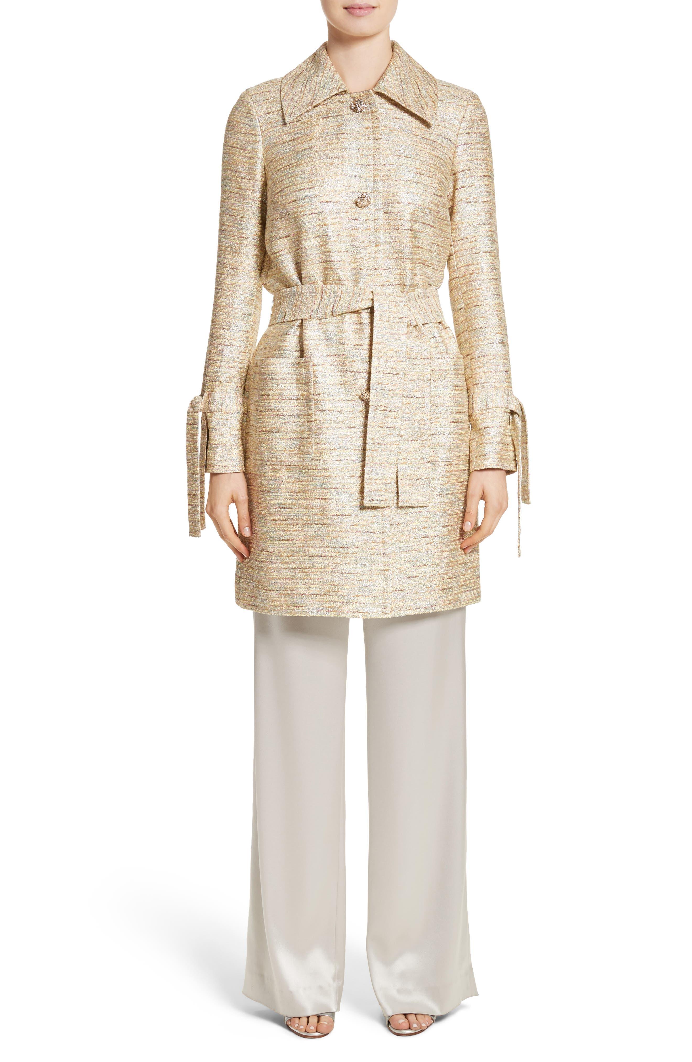 Alternate Image 7  - St. John Collection Metallic Tweed Coat