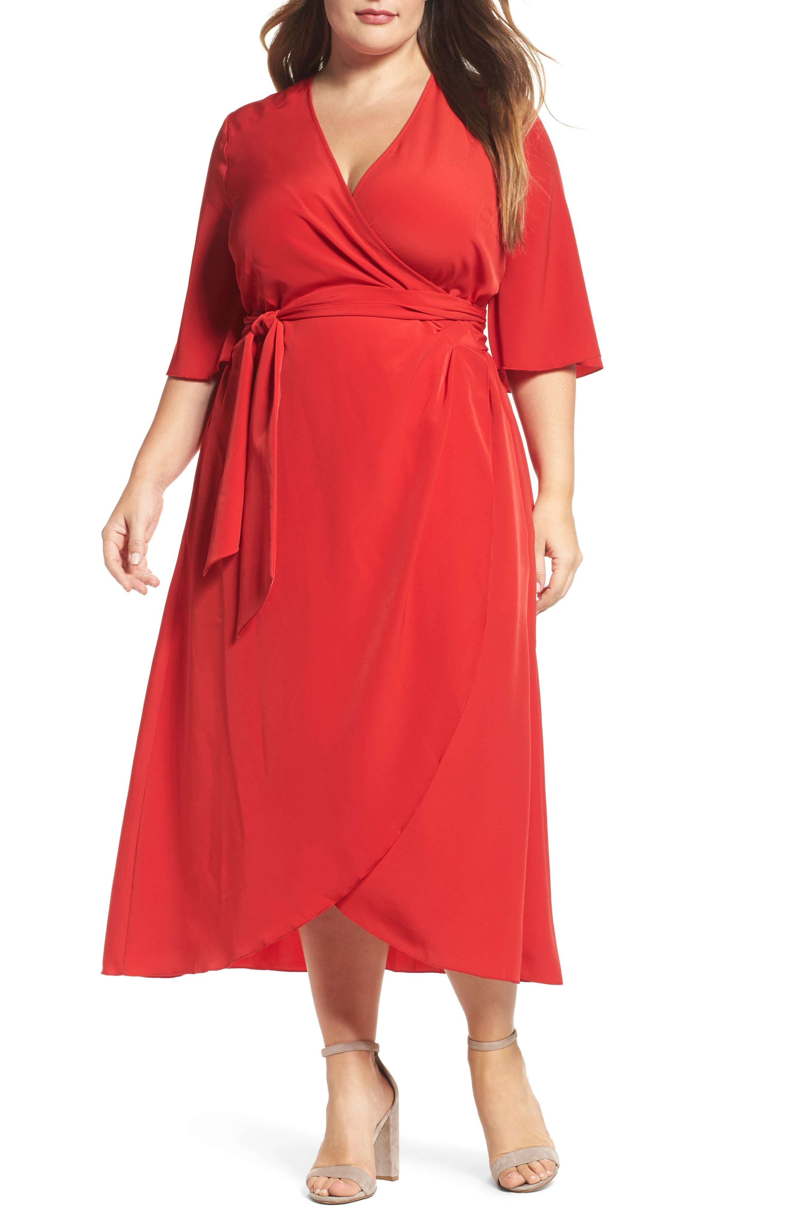 Melissa McCarthy Seven7 Wrap Dress (Plus Size)