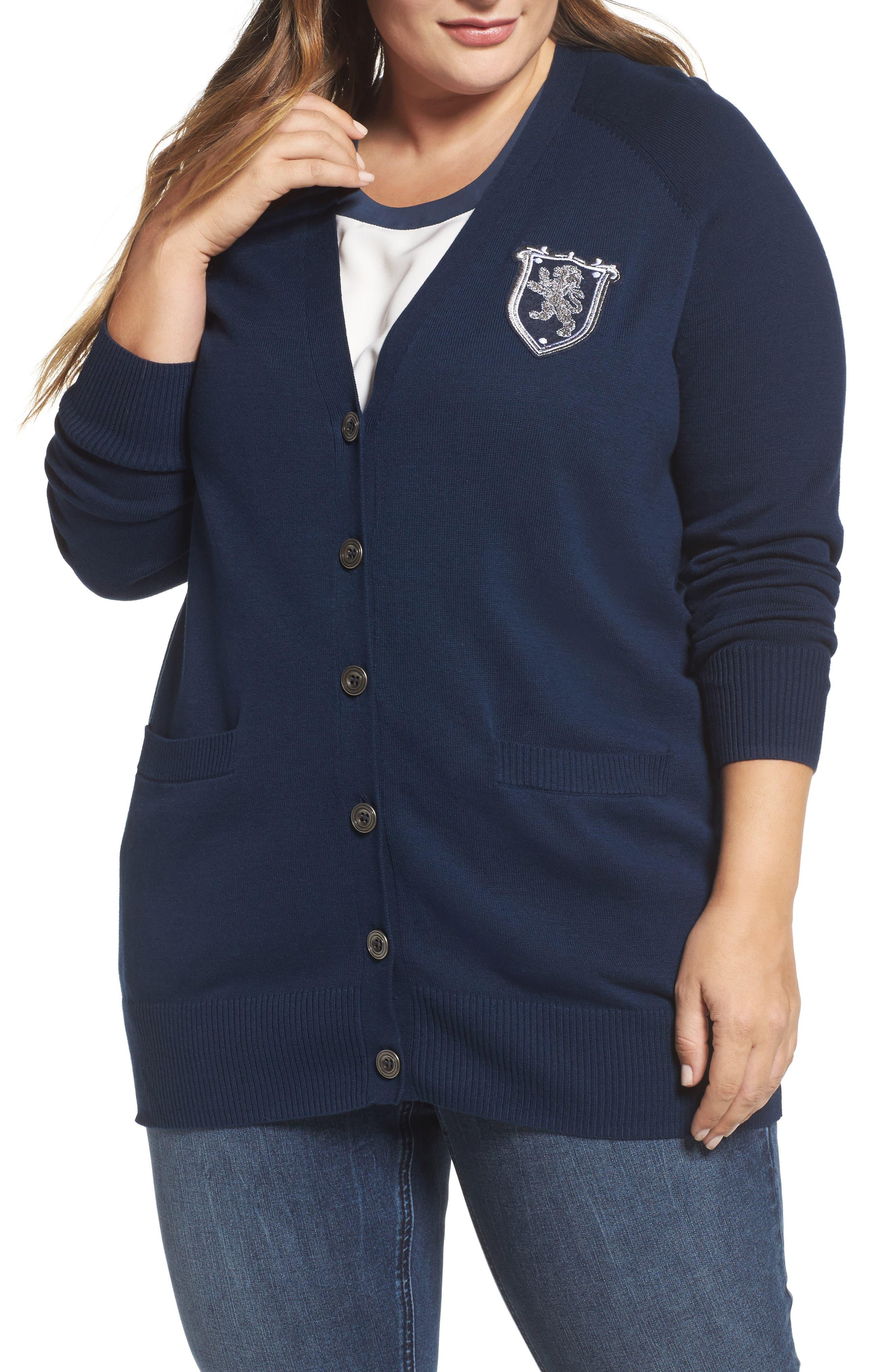Melissa McCarthy Seven7 Boyfriend Cardigan (Plus Size)