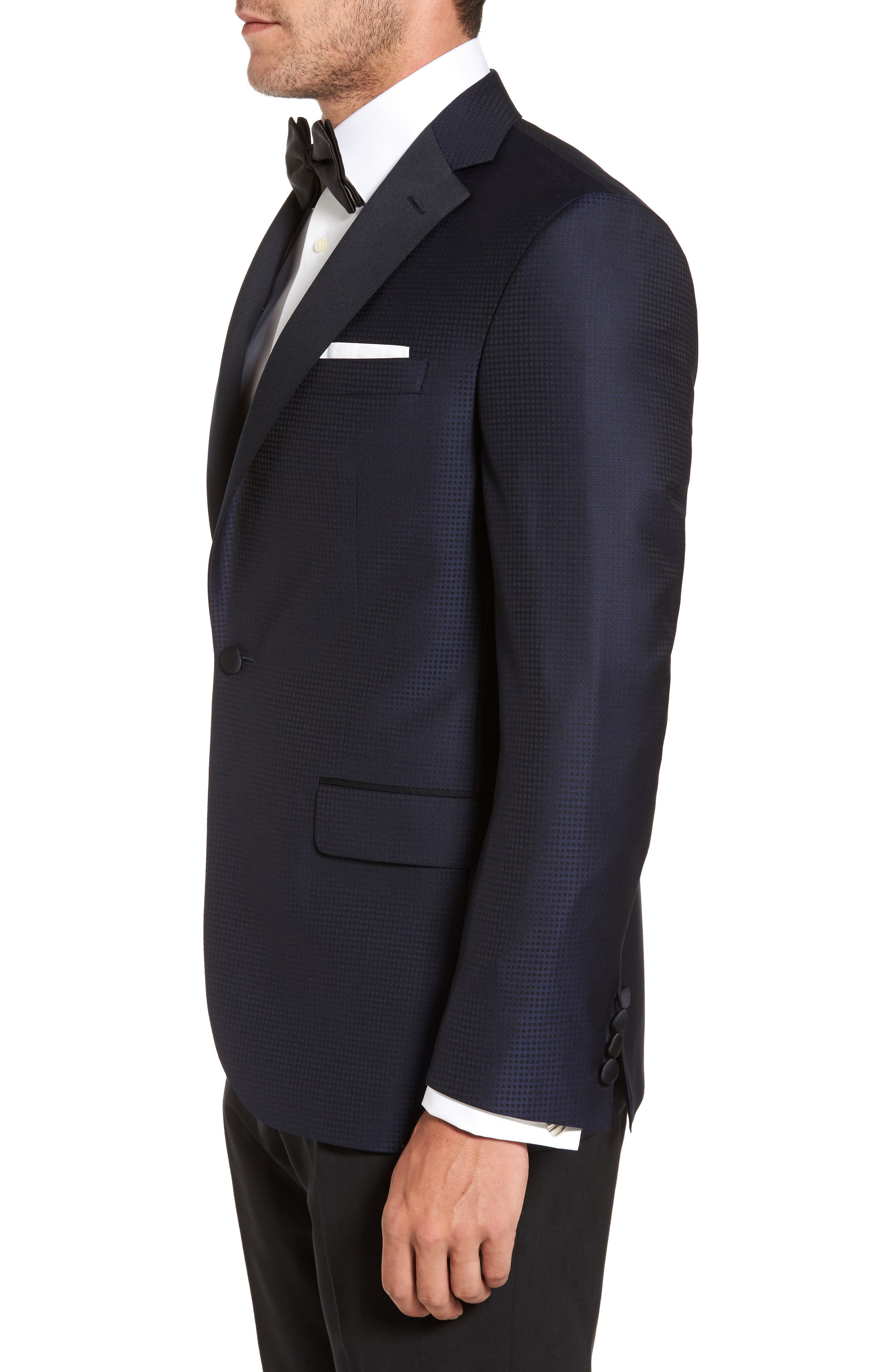 Alternate Image 3  - David Donahue Reed Classic Fit Dinner Jacket