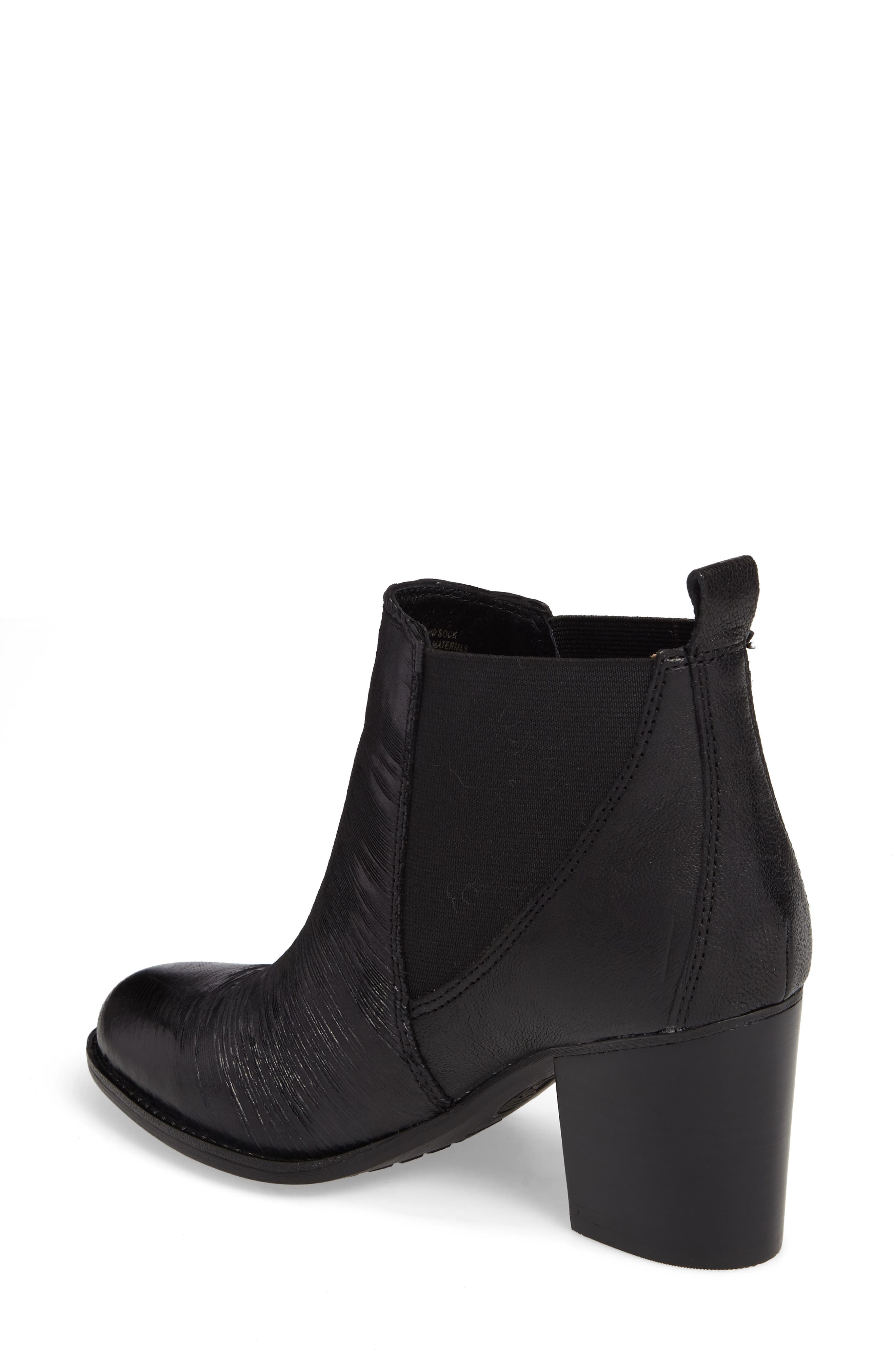Welling Bootie,                             Alternate thumbnail 2, color,                             Black Leather