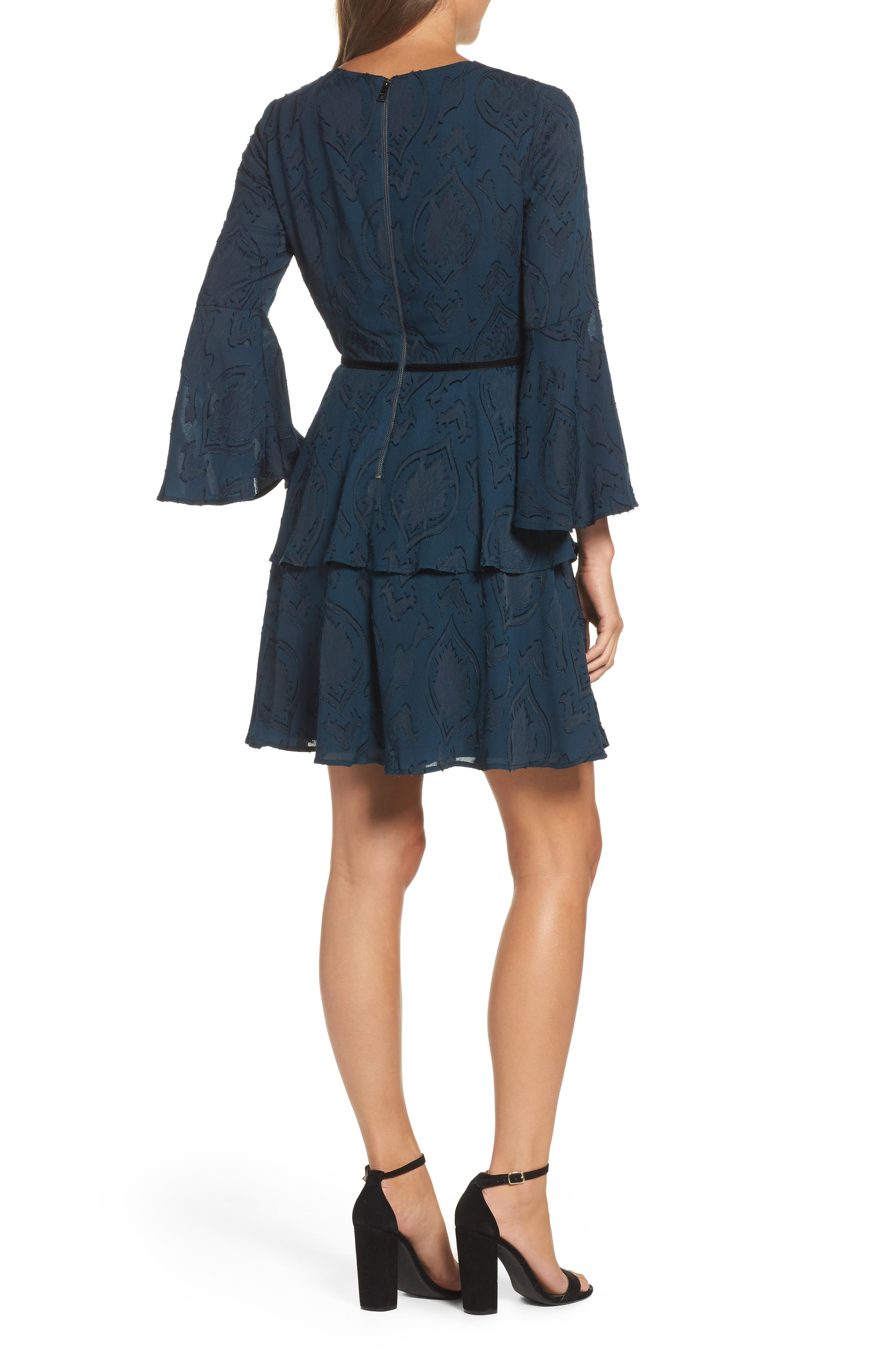 Alternate Image 2  - Vince Camuto Tiered Chiffon Fit & Flare Dress