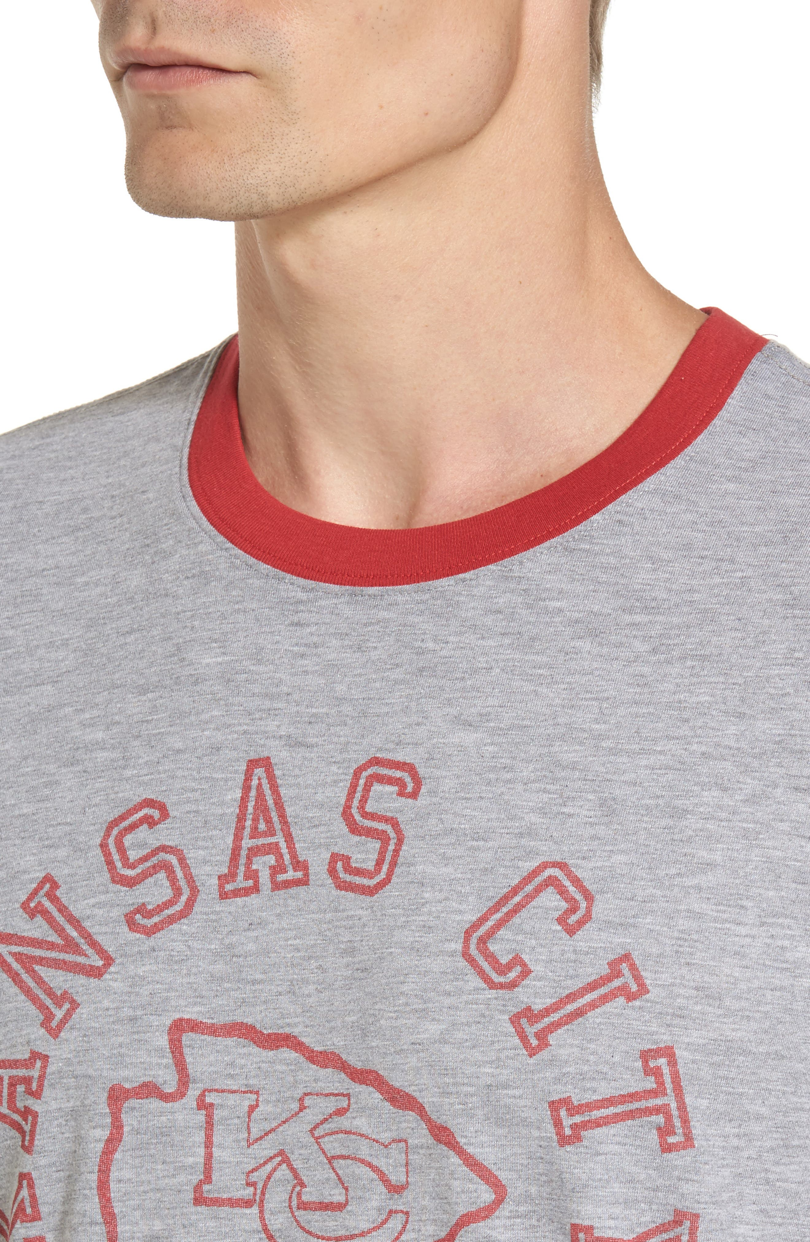 Kansas City Chiefs Ringer T-Shirt,                             Alternate thumbnail 4, color,                             Grey