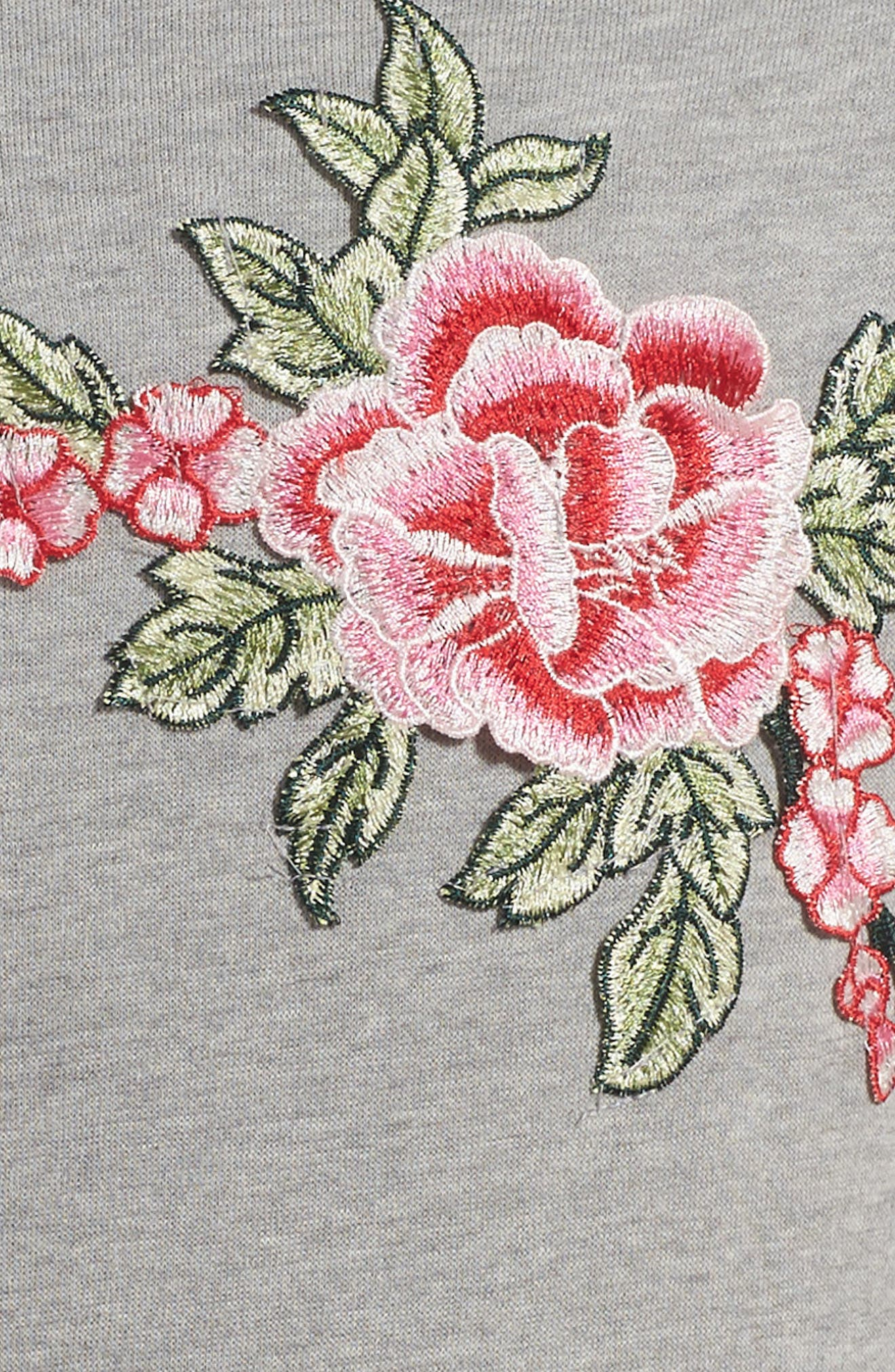 Alternate Image 3  - PPLA Dreamer Appliqué Sweatshirt Dress (Big Girls)