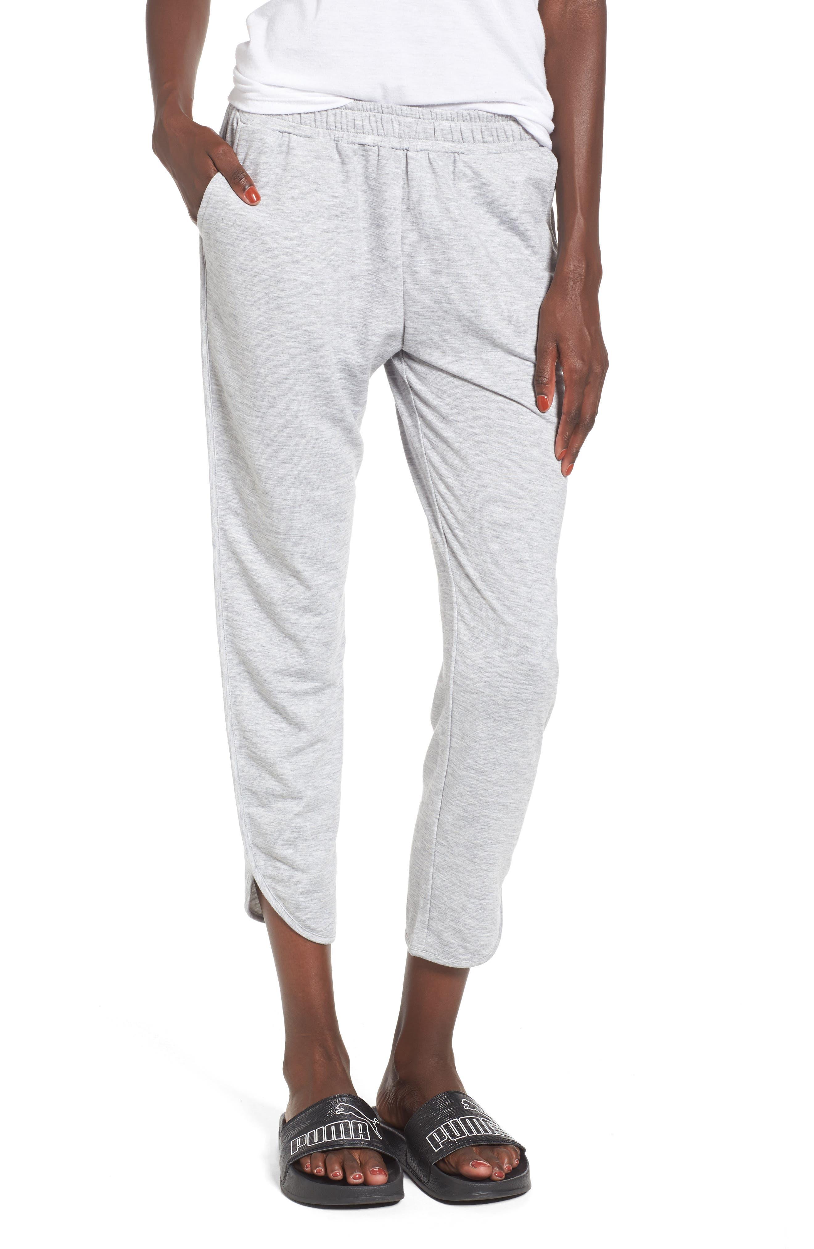 Dolphin Hem Sweatpants,                         Main,                         color, Grey Medium Heather