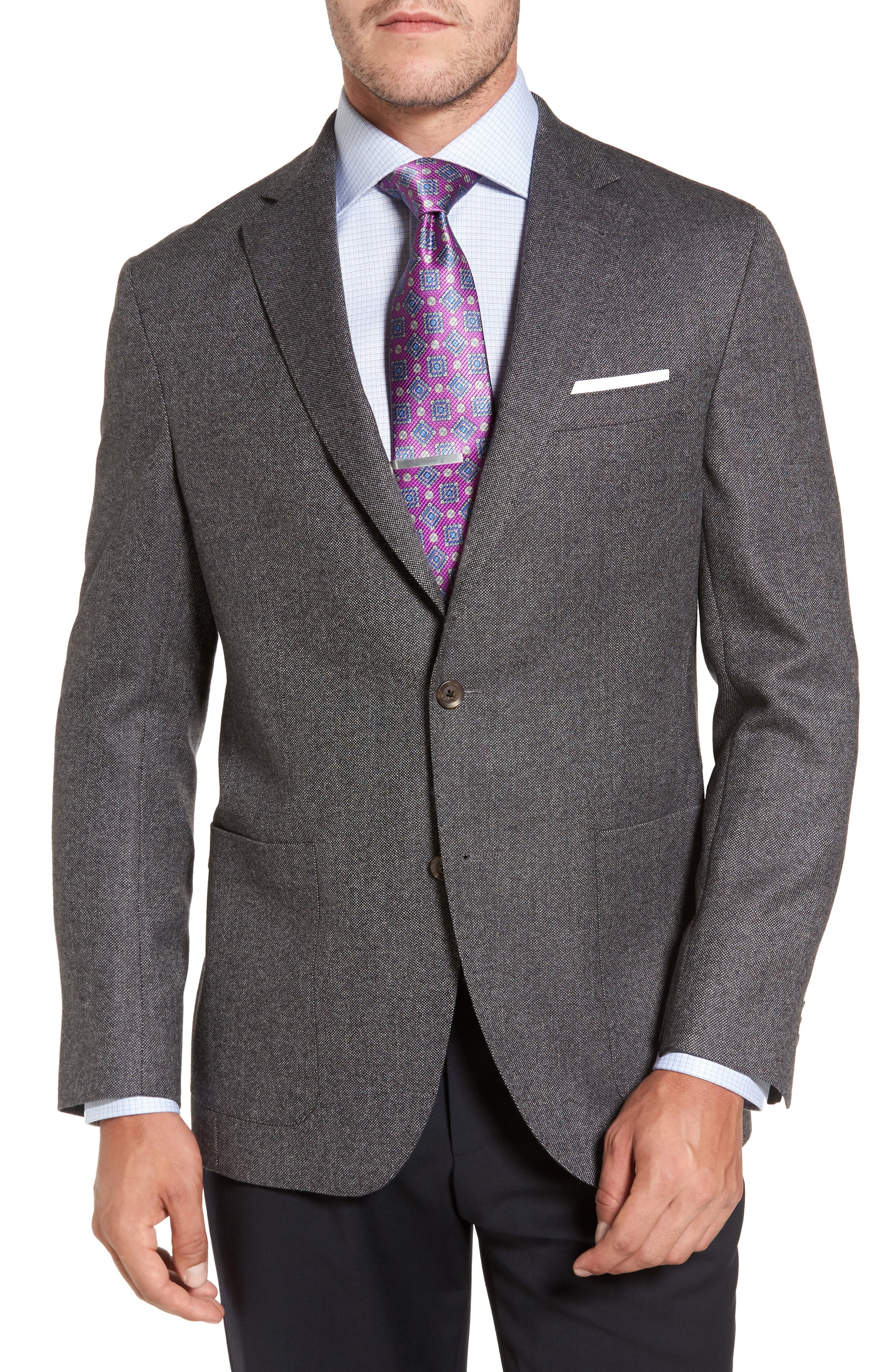 Aiden Classic Fit Wool Blazer,                         Main,                         color, Grey