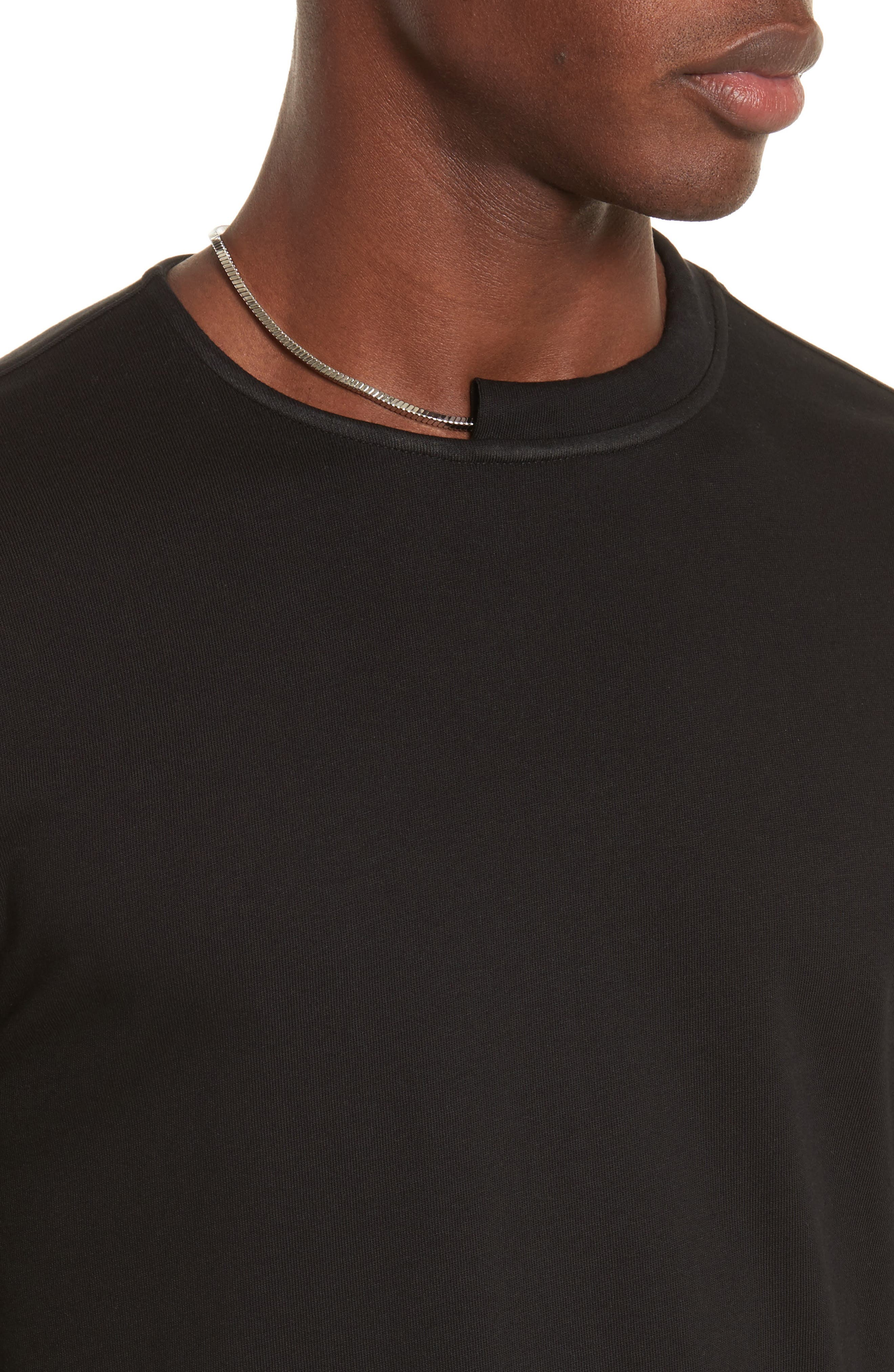 Alternate Image 4  - Helmut Lang Necklace Crewneck T-Shirt