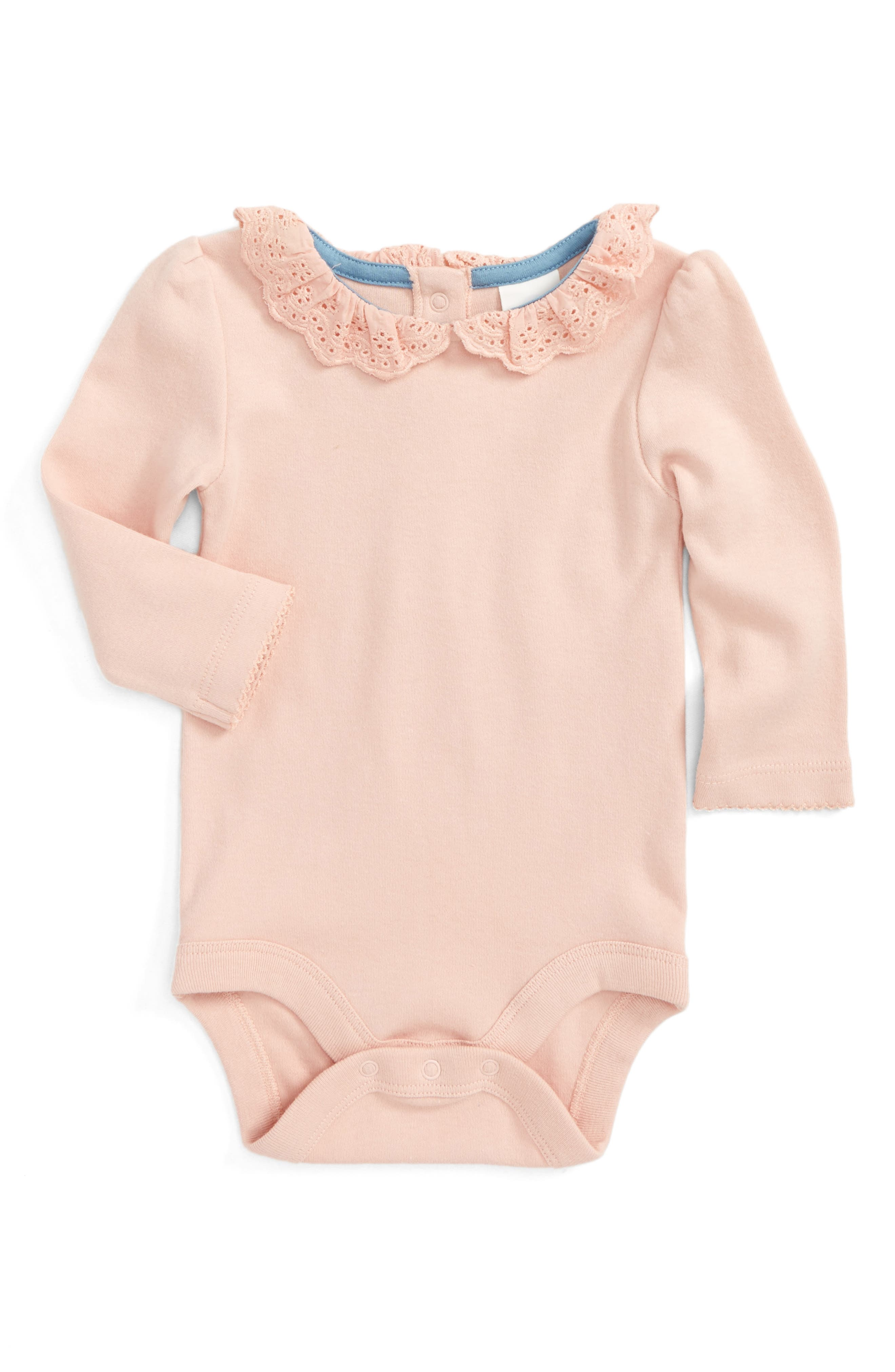 Main Image - Mini Boden Pretty Collar Bodysuit (Baby)