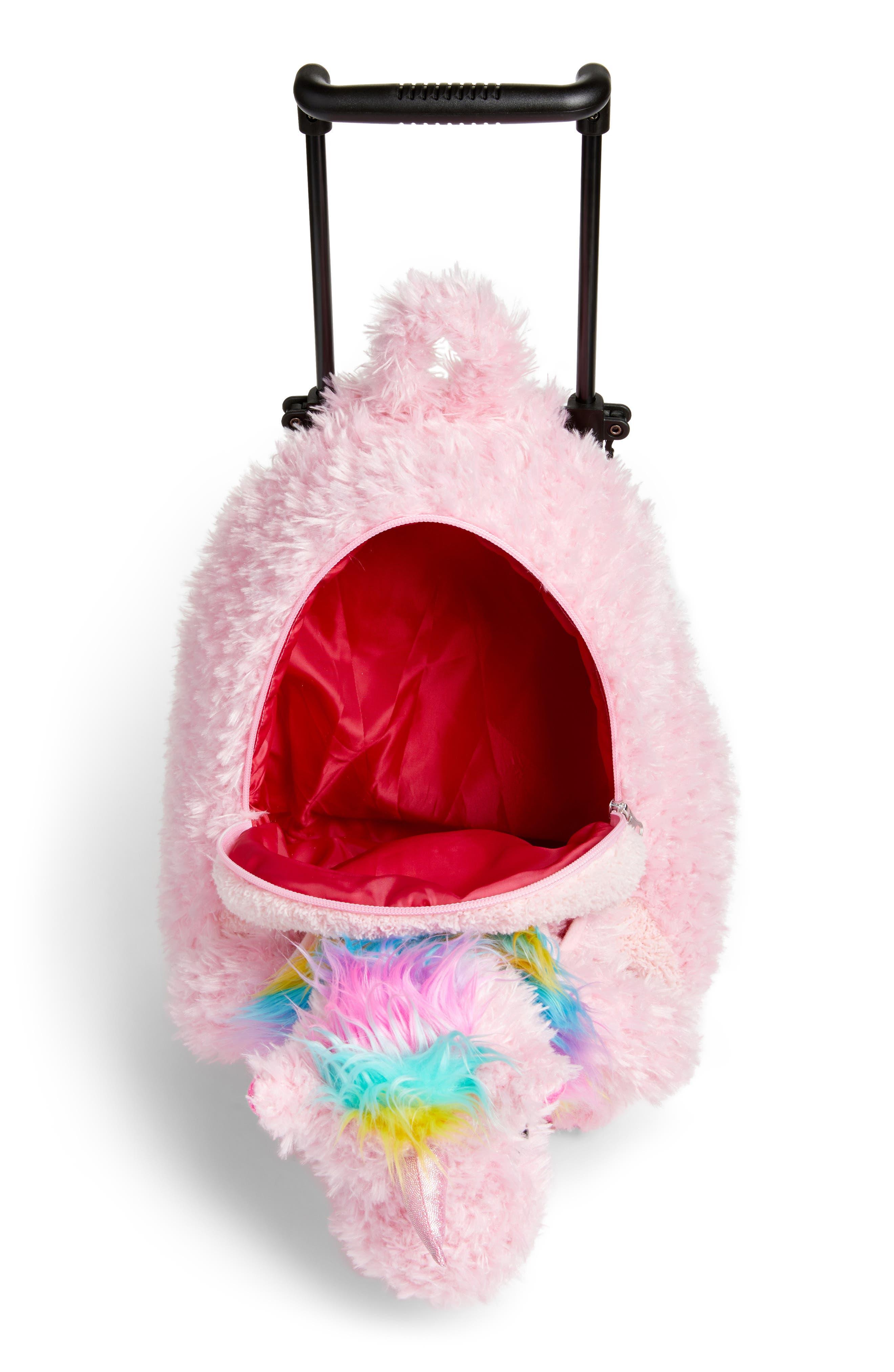 Alternate Image 4  - Popatu Unicorn Trolley Rolling Backpack (Kids)