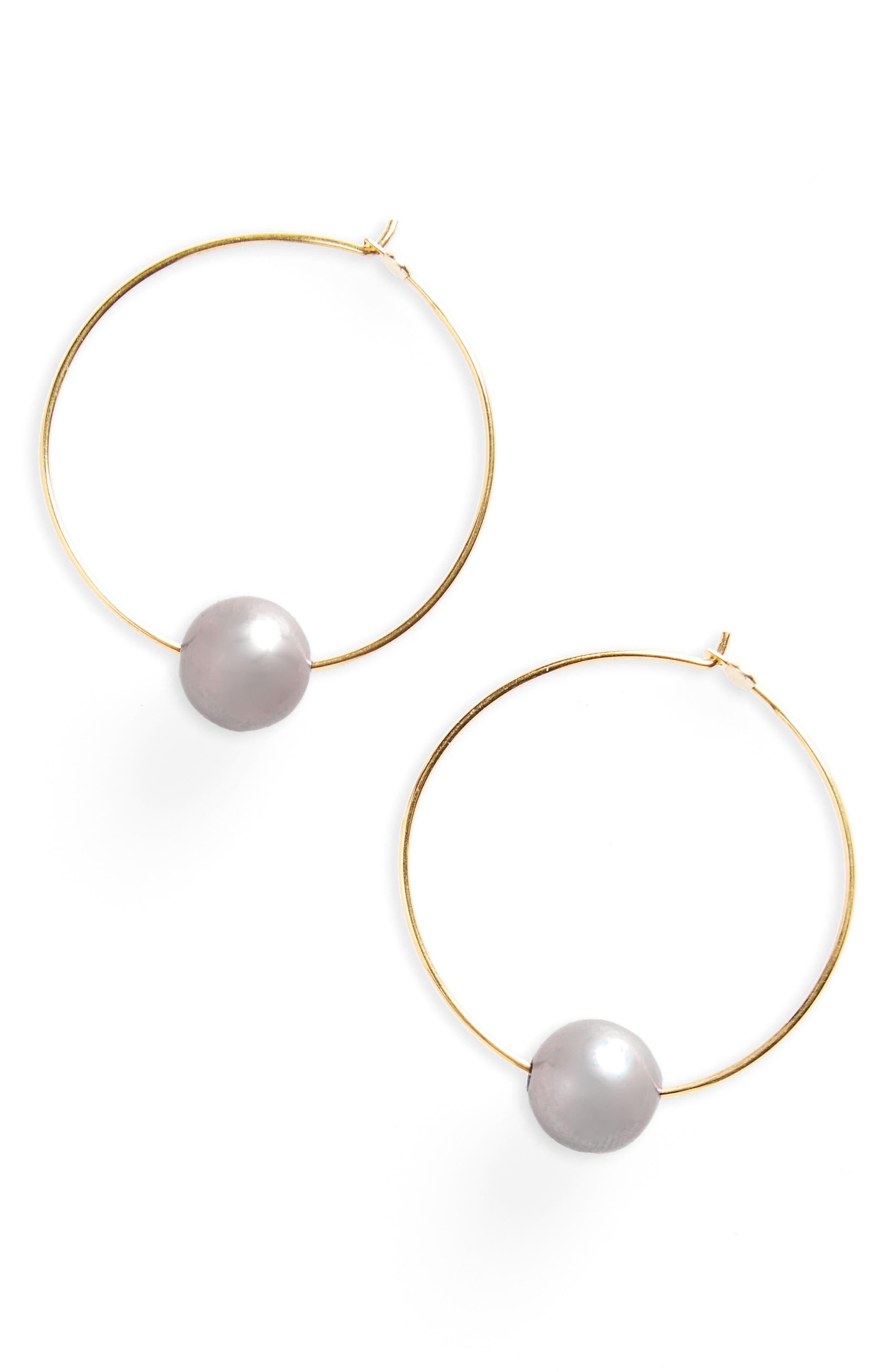 Chan Luu Freshwater Pearl Hoop Earrings