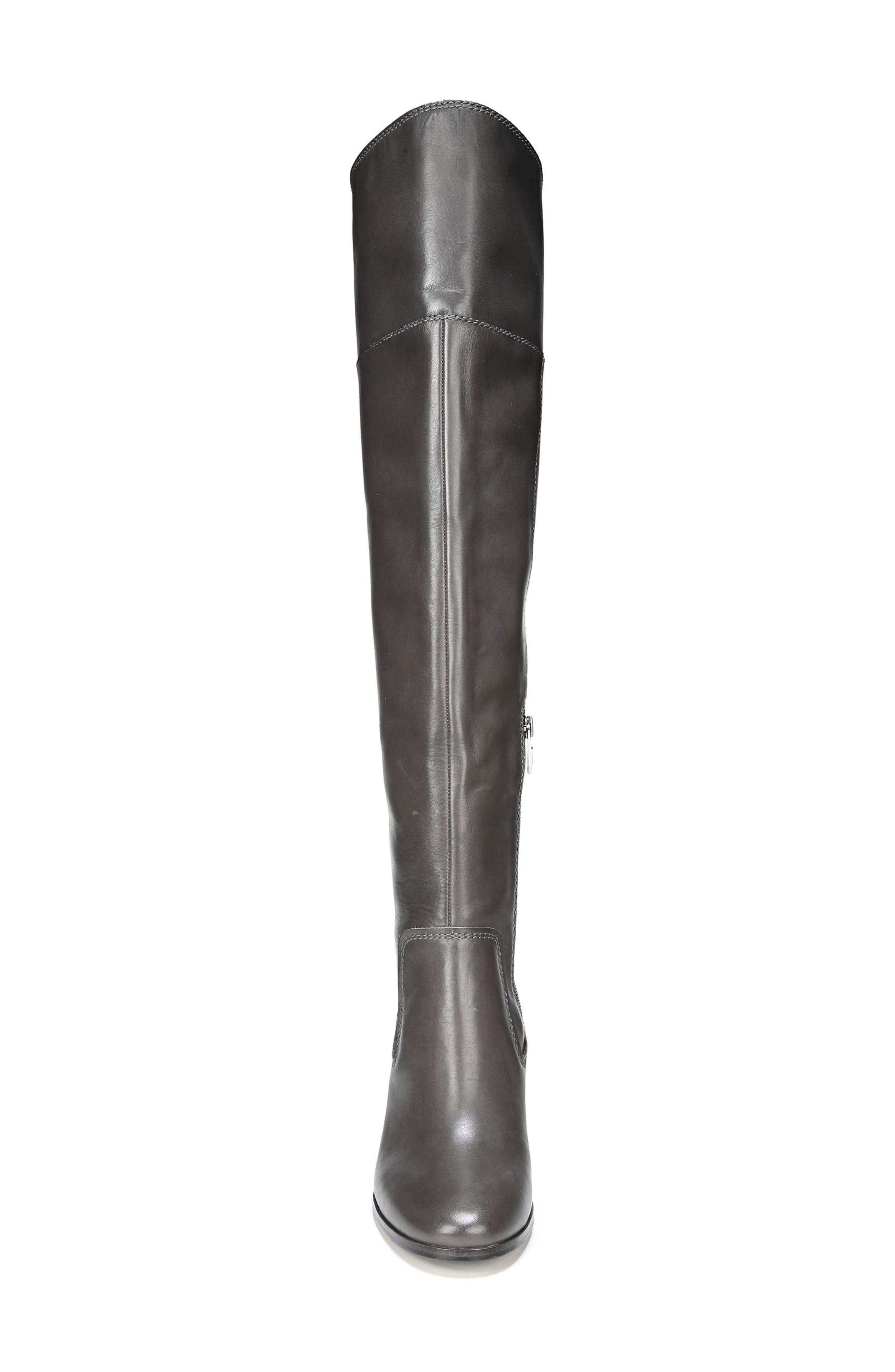 Freda Over the Knee Boot,                             Alternate thumbnail 4, color,                             Peat Leather