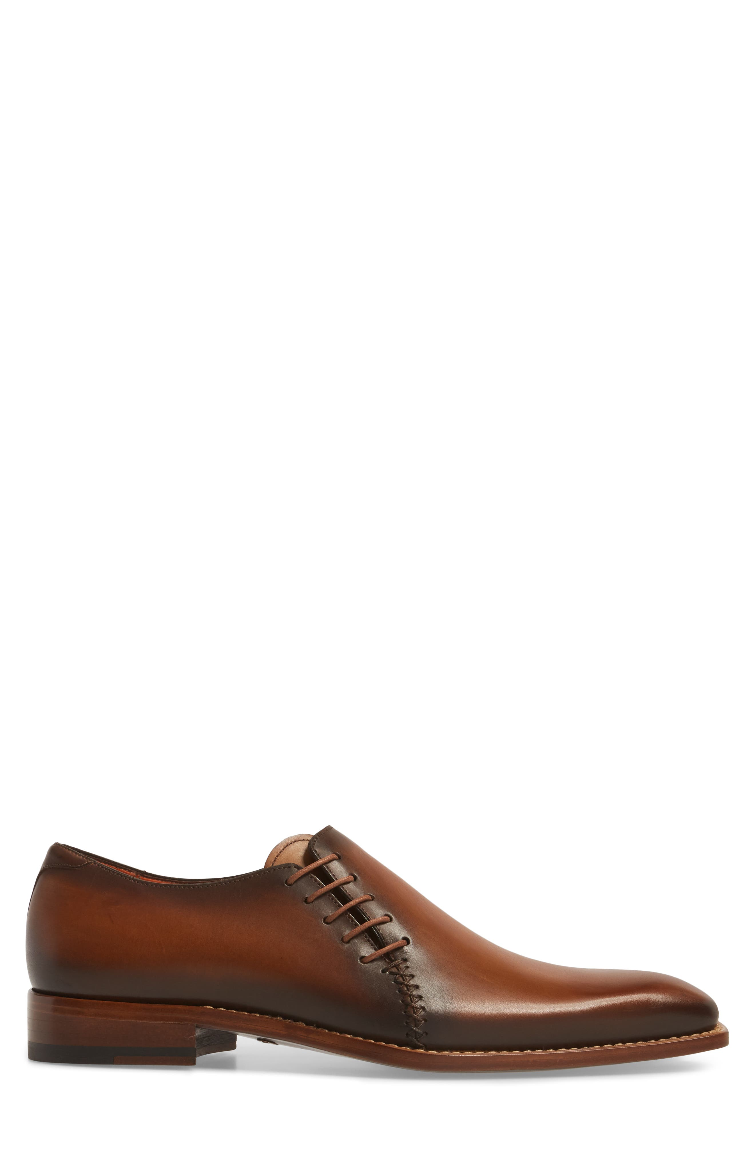 Master Wholecut Oxford,                             Alternate thumbnail 3, color,                             Honey Leather