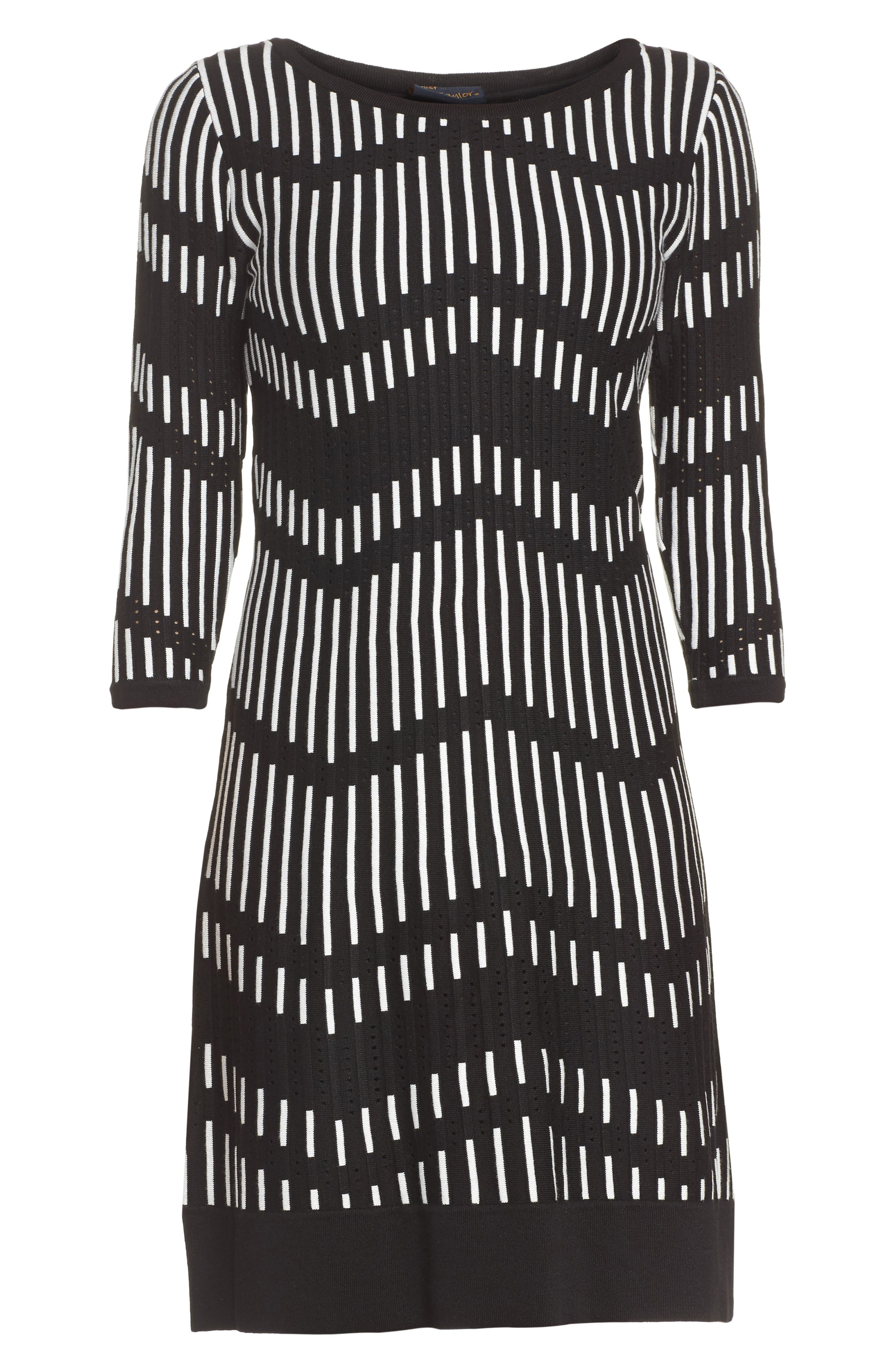 Alternate Image 6  - Taylor Dresses Zig Zag Sweater Dress