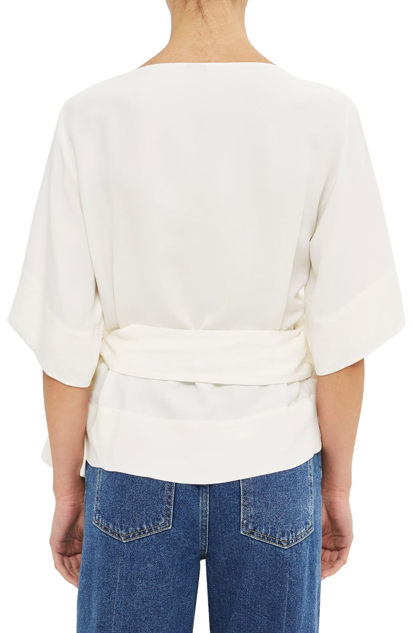 Alternate Image 3  - Topshop Boutique Crepe Wrap Top