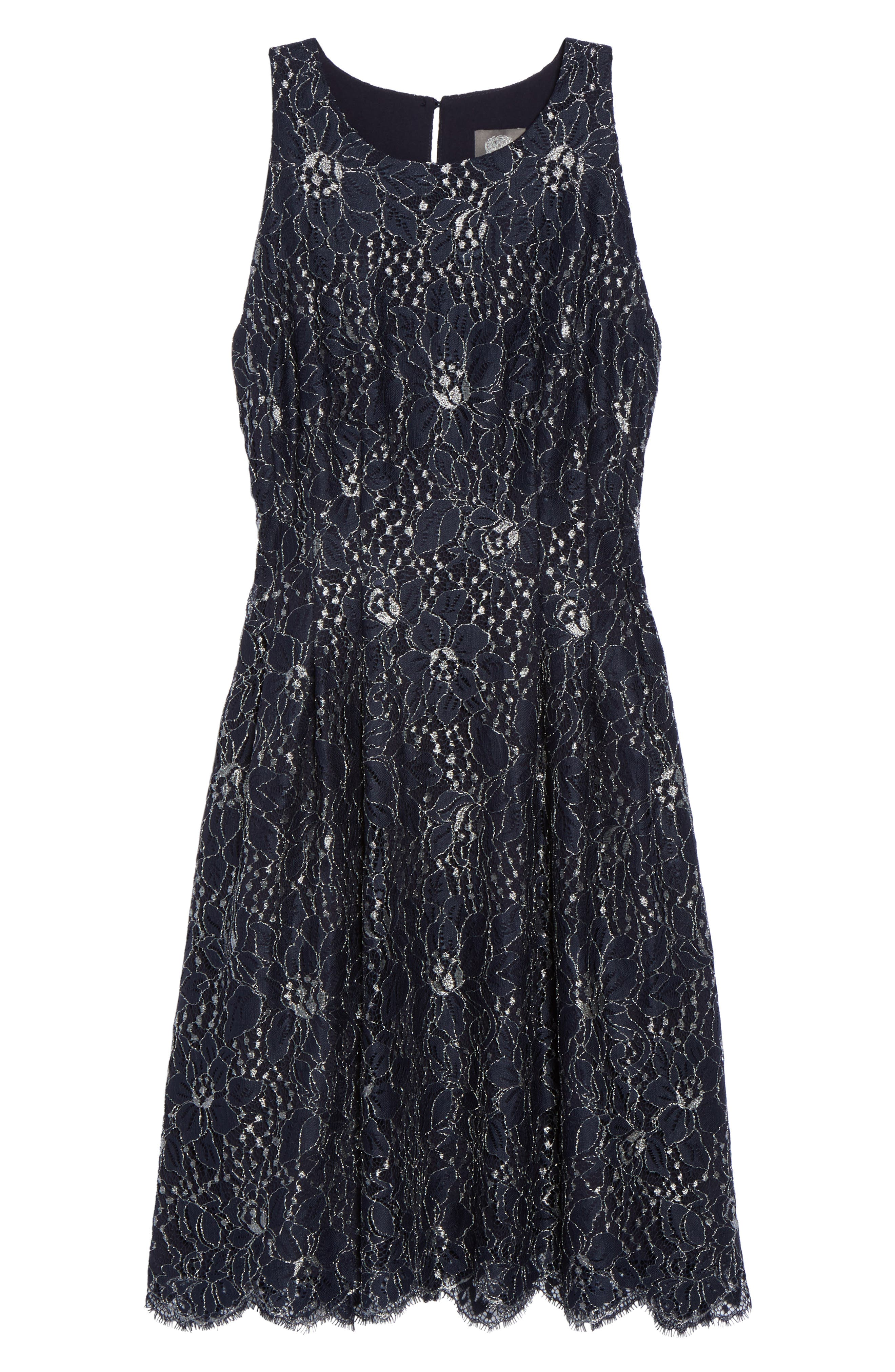 Alternate Image 6  - Vince Camuto Metallic Lace Fit & Flare Dress
