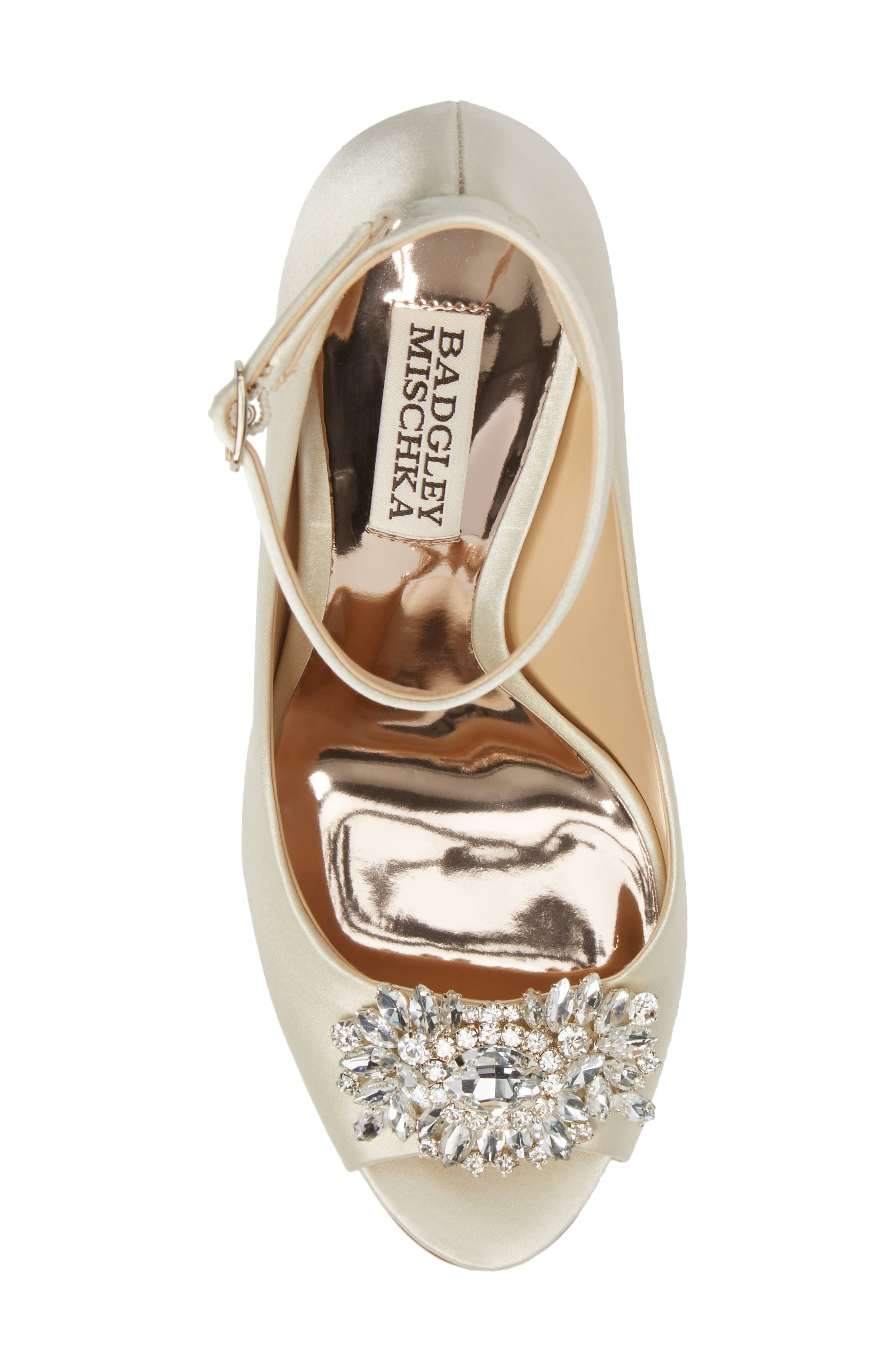 Alternate Image 5  - Badgley Mischka Kali Ankle Strap Pump (Women)