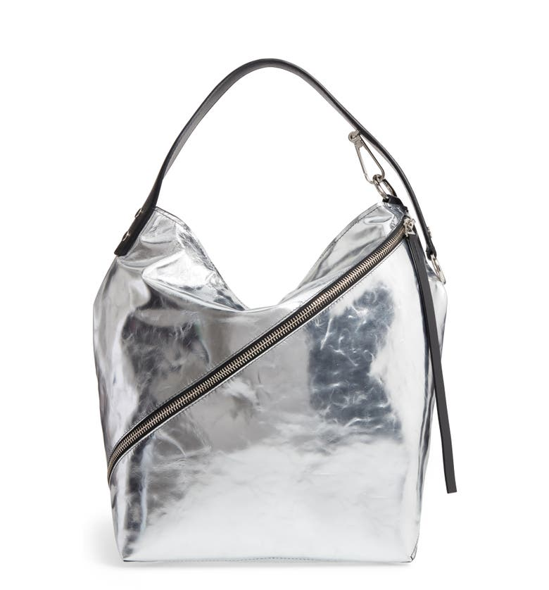 Proenza Schouler Medium Metallic Leather Hobo Bag - Metallic In Silver