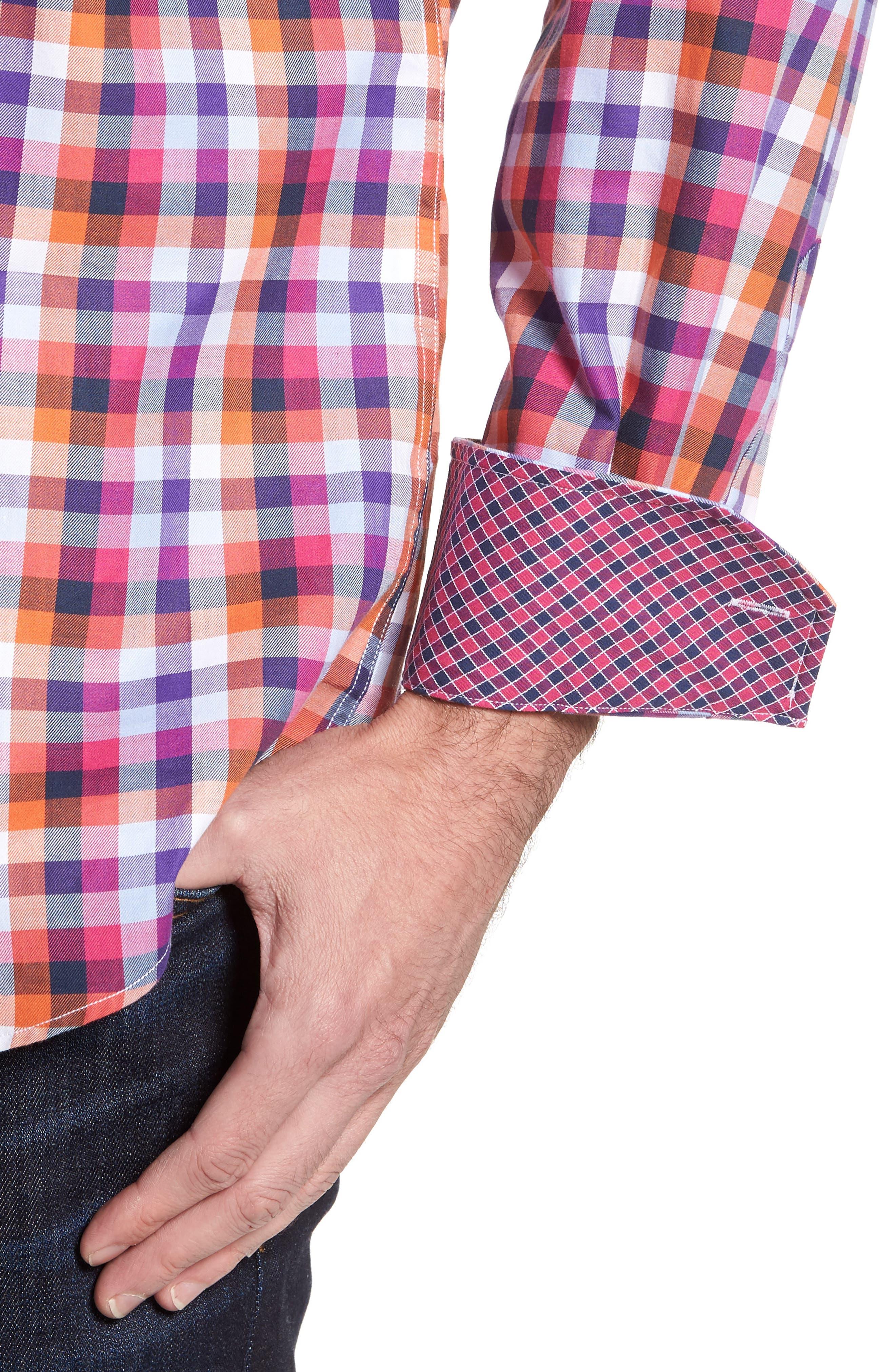 Alternate Image 4  - TailorByrd Baker Check Sport Shirt