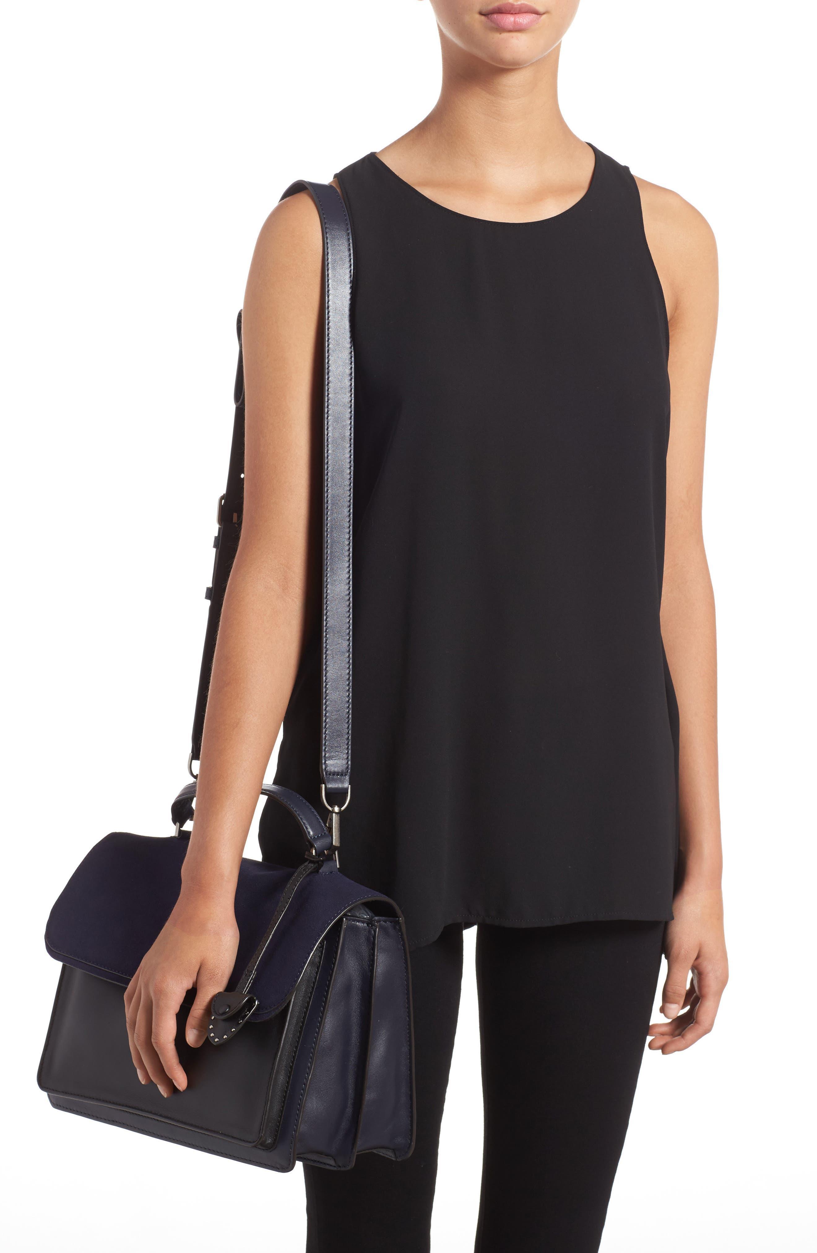 Top Handle Shoulder Bag,                             Alternate thumbnail 2, color,                             Black