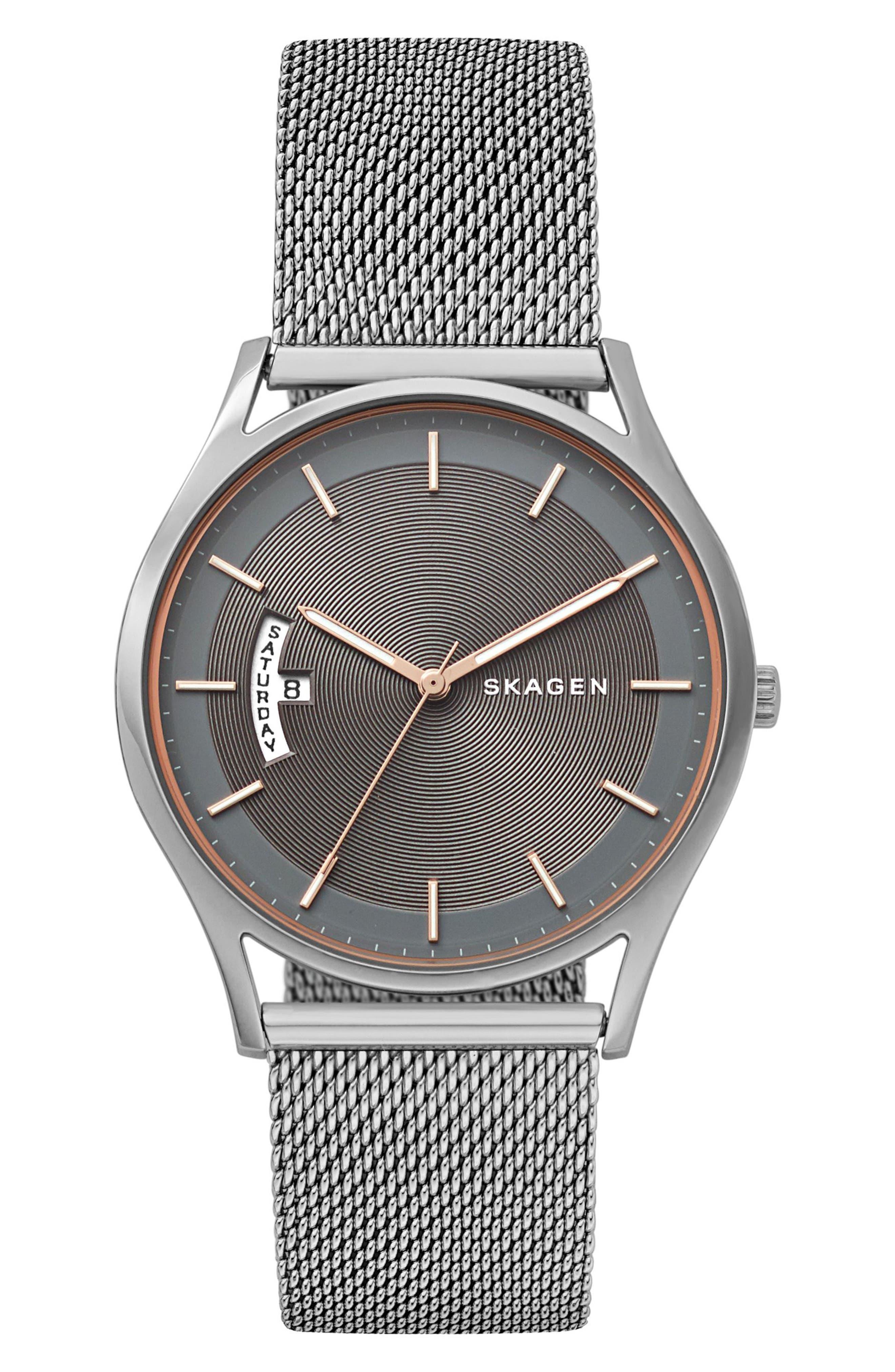Skagen Holst Mesh Strap Watch, 40mm