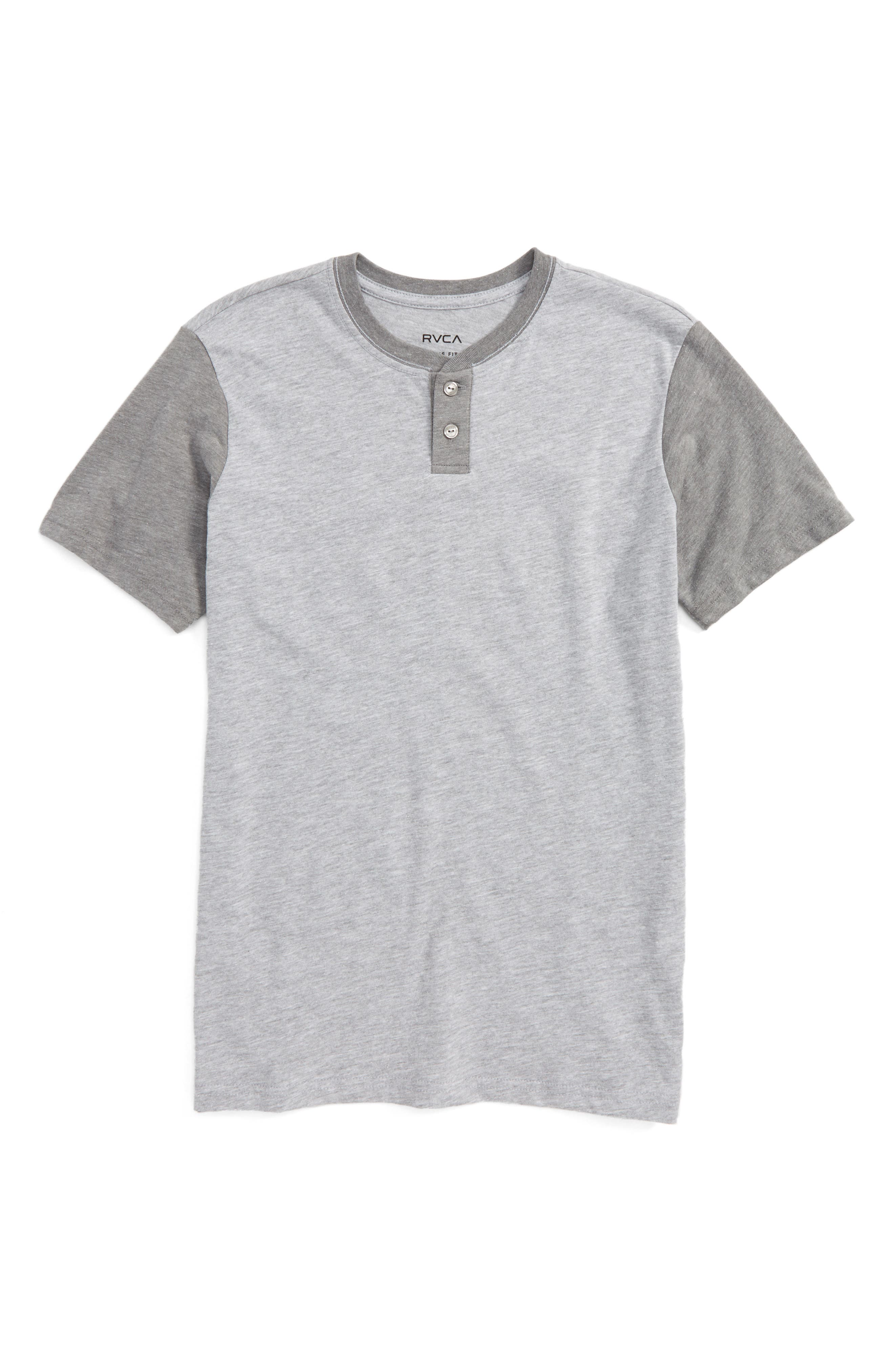 Alternate Image 1 Selected - RVCA Pick Up Henley T-Shirt (Big Boys)