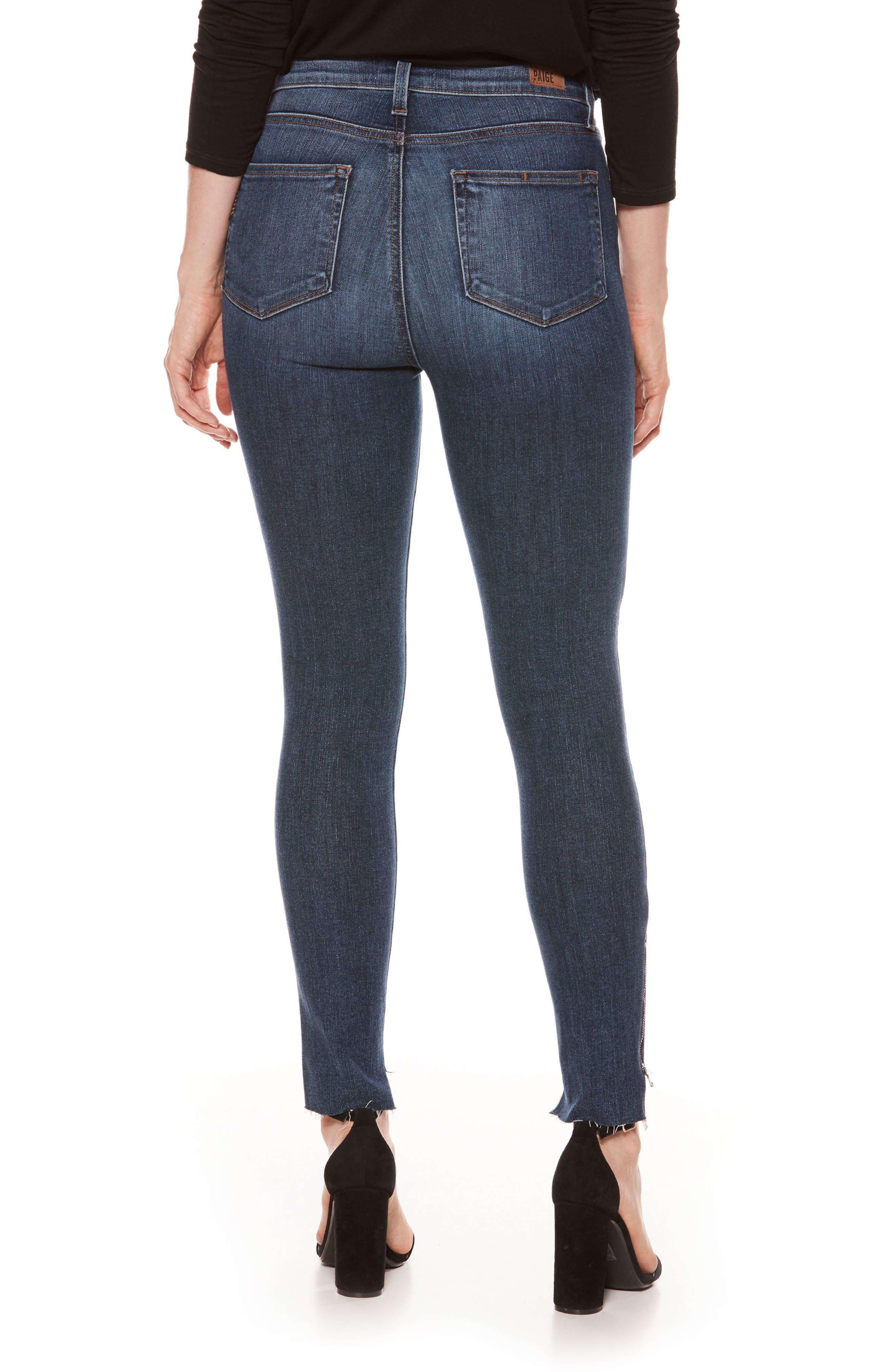 Alternate Image 2  - PAIGE Margot High Waist Zip Skinny Jeans (Westminster)